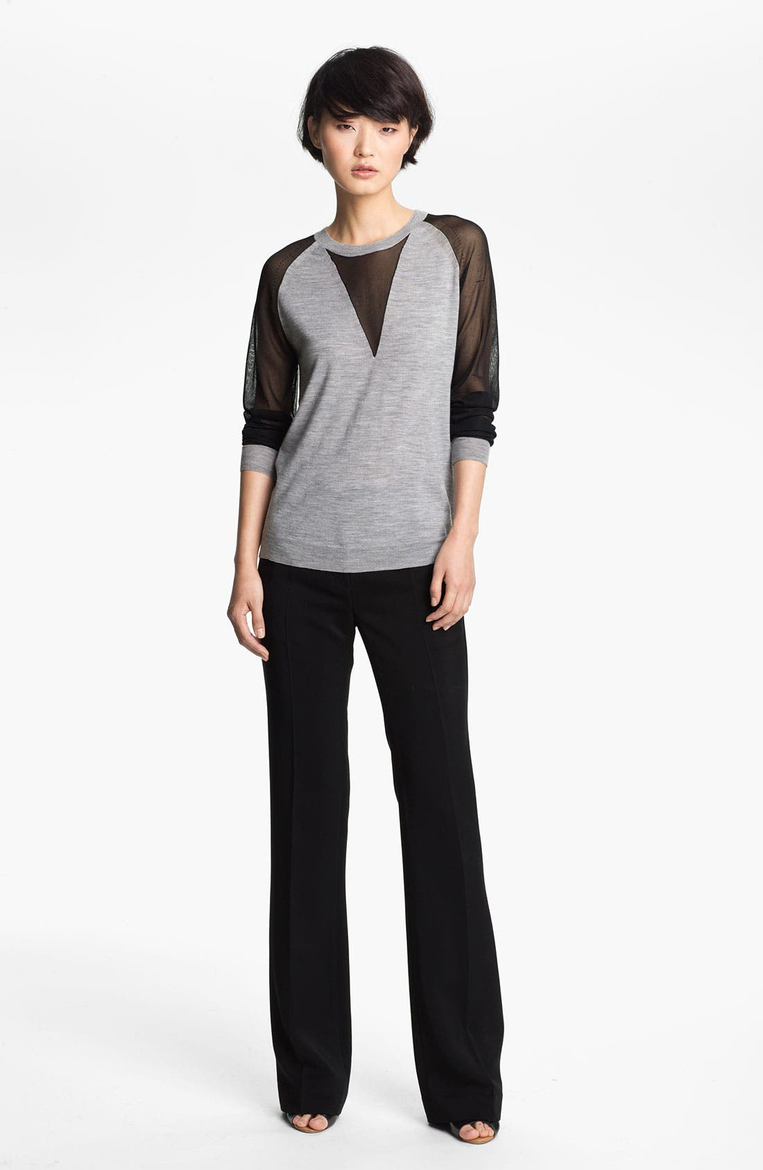 Alternate Image 1 Selected - 3.1 Phillip Lim Sheer Sleeve Pullover