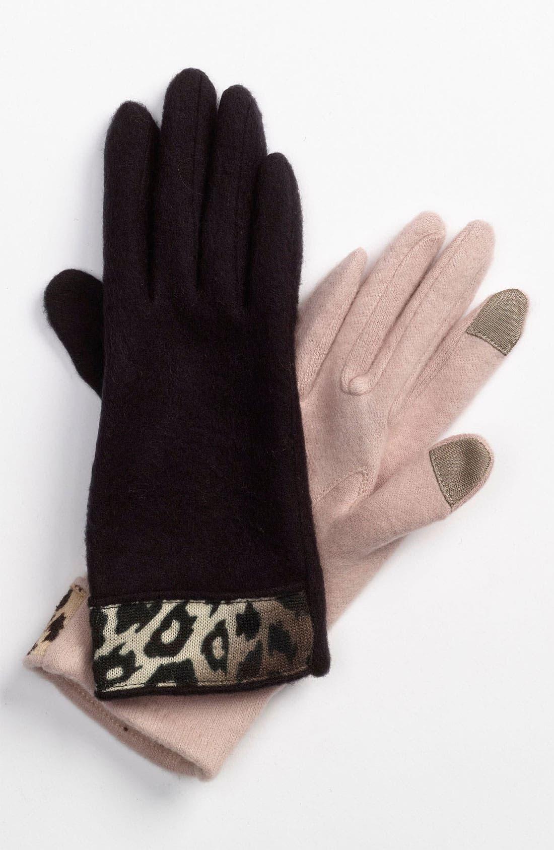 Alternate Image 1 Selected - Brazen 'Cheetah Cuff' Tech Gloves