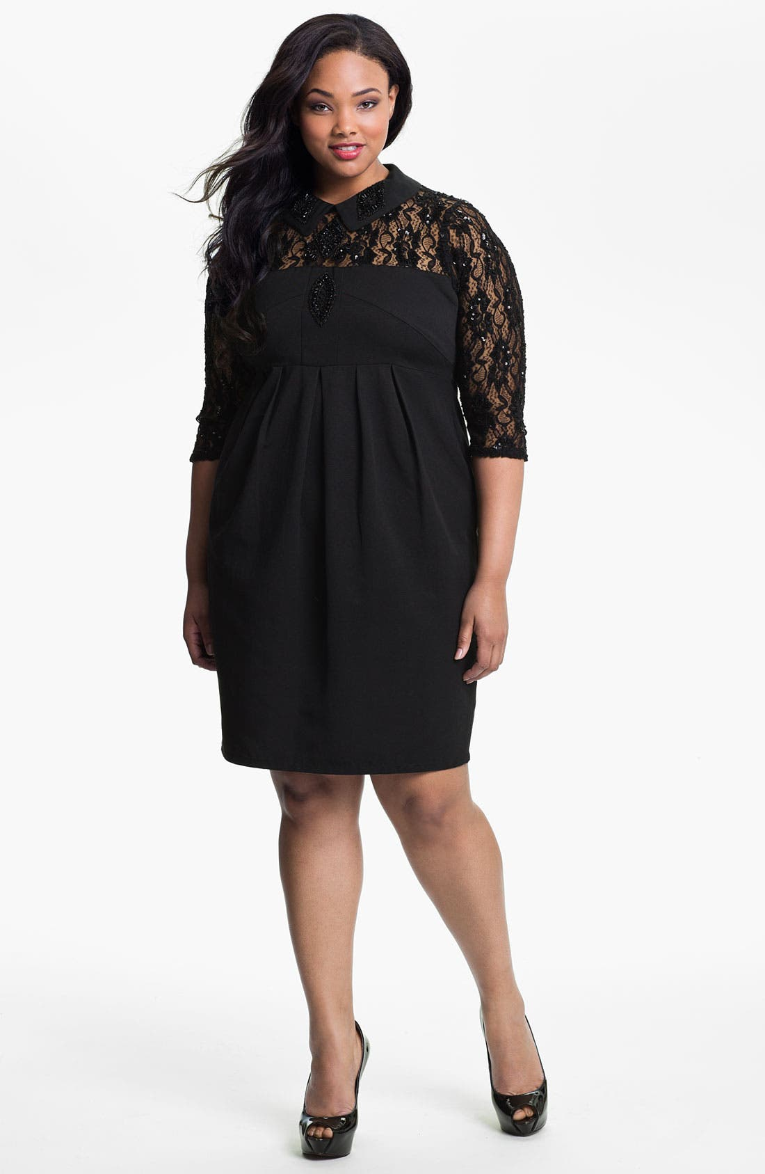 Alternate Image 1 Selected - Evans 'Rebecca' Dress (Plus Size)