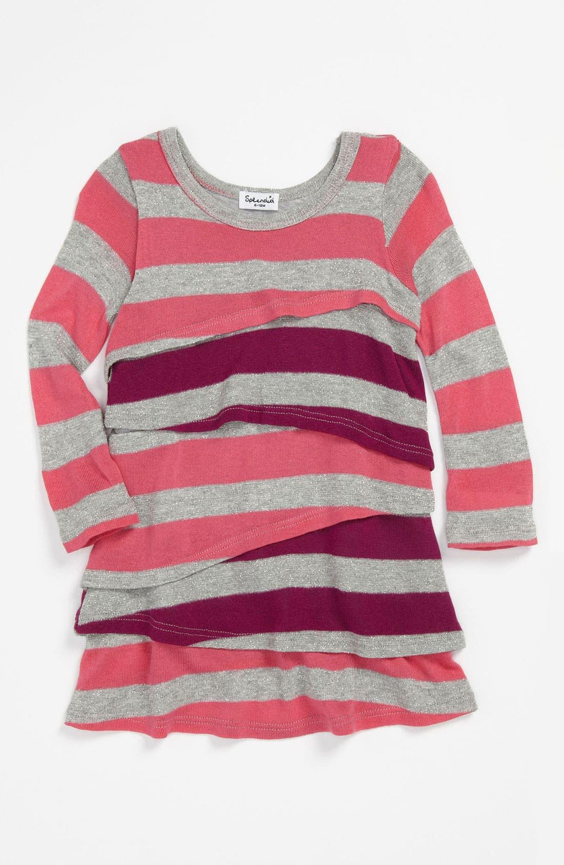 Alternate Image 1 Selected - Splendid 'Platinum' Stripe Dress (Infant)