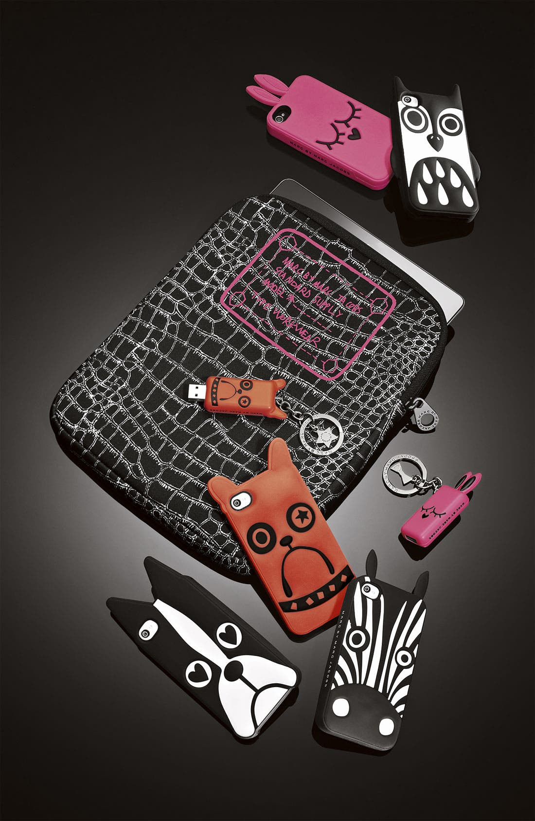 Alternate Image 5  - MARC BY MARC JACOBS 'Trompe l'Oeil' Croc Print Tablet Sleeve