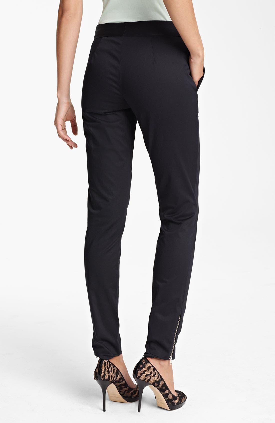 Alternate Image 2  - Piazza Sempione Skinny Ankle Zip Pants