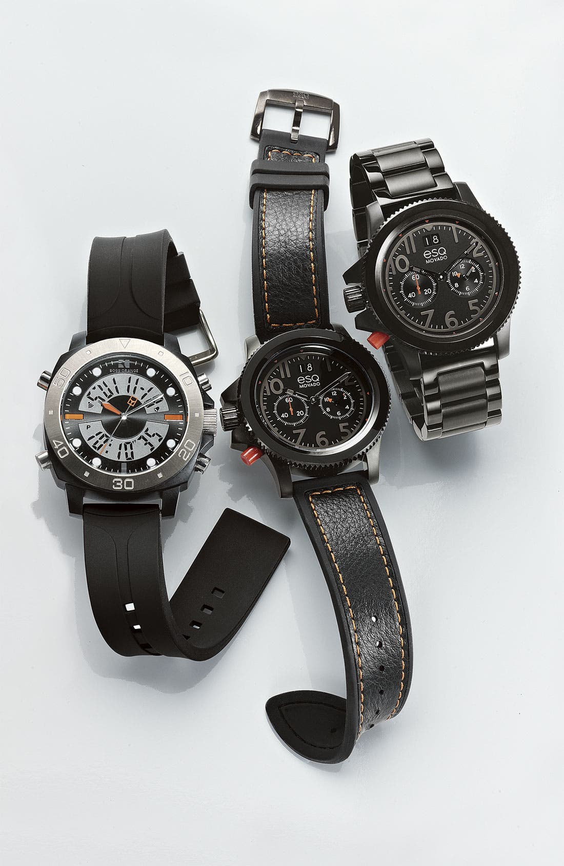 Alternate Image 2  - BOSS Orange Dual Movement Rubber Strap Watch