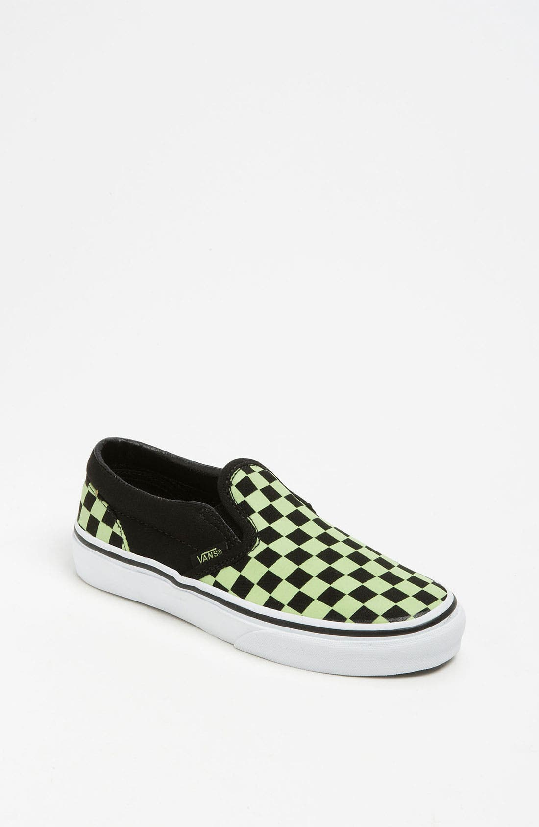 Alternate Image 1 Selected - Vans 'Classic Checker - Glow in the Dark' Slip-On (Toddler, Little Kid & Bid Kid)