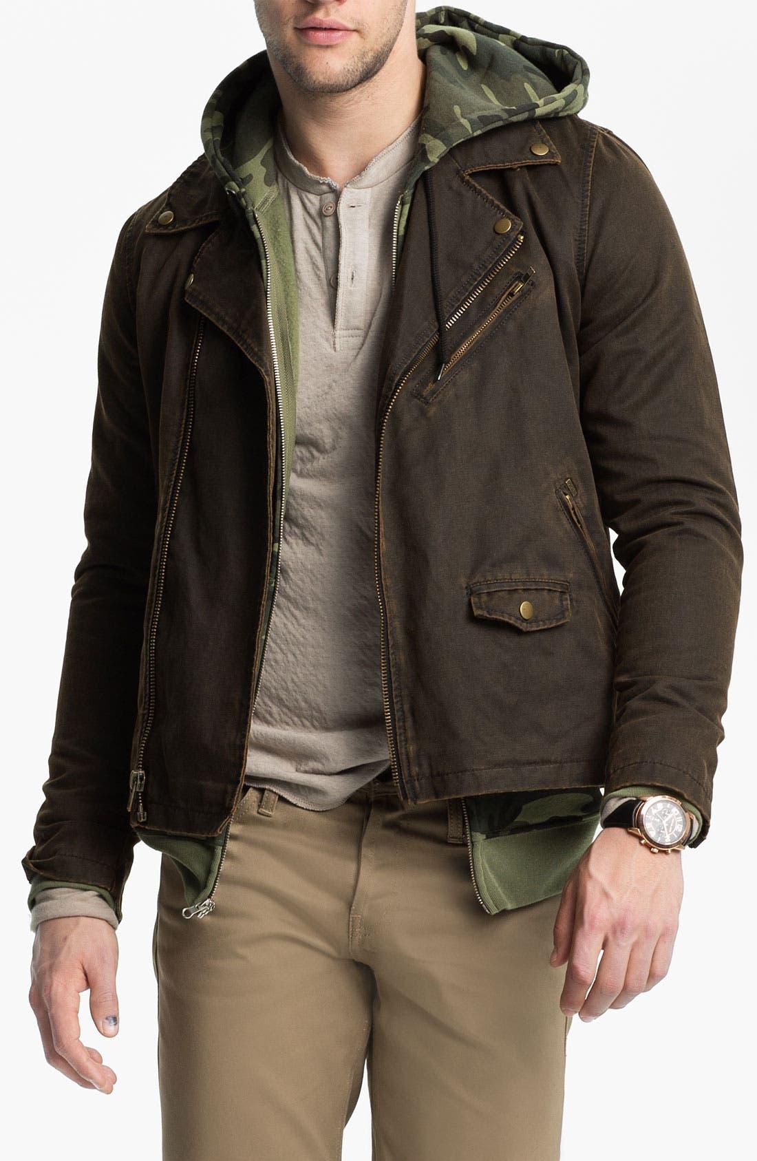 Alternate Image 1 Selected - Obey Coated Moto Jacket