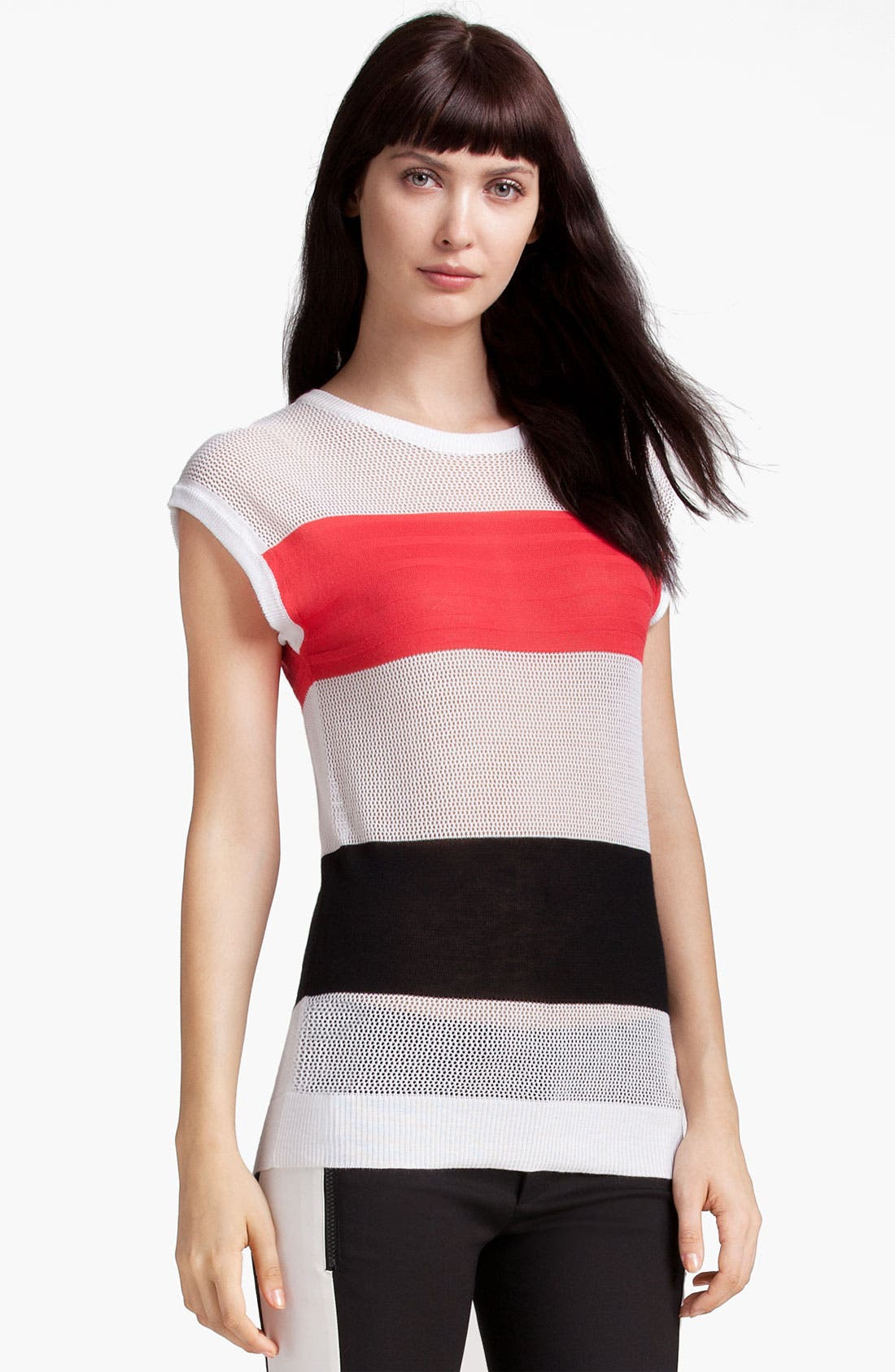 Alternate Image 1 Selected - MSGM Colorblock Stripe Sweater