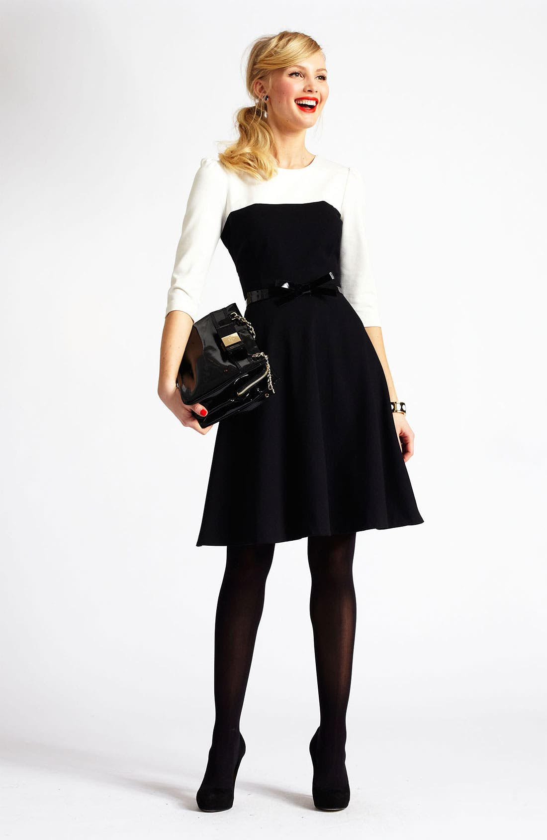 Alternate Image 4  - kate spade new york 'olsen' colorblock fit & flare dress