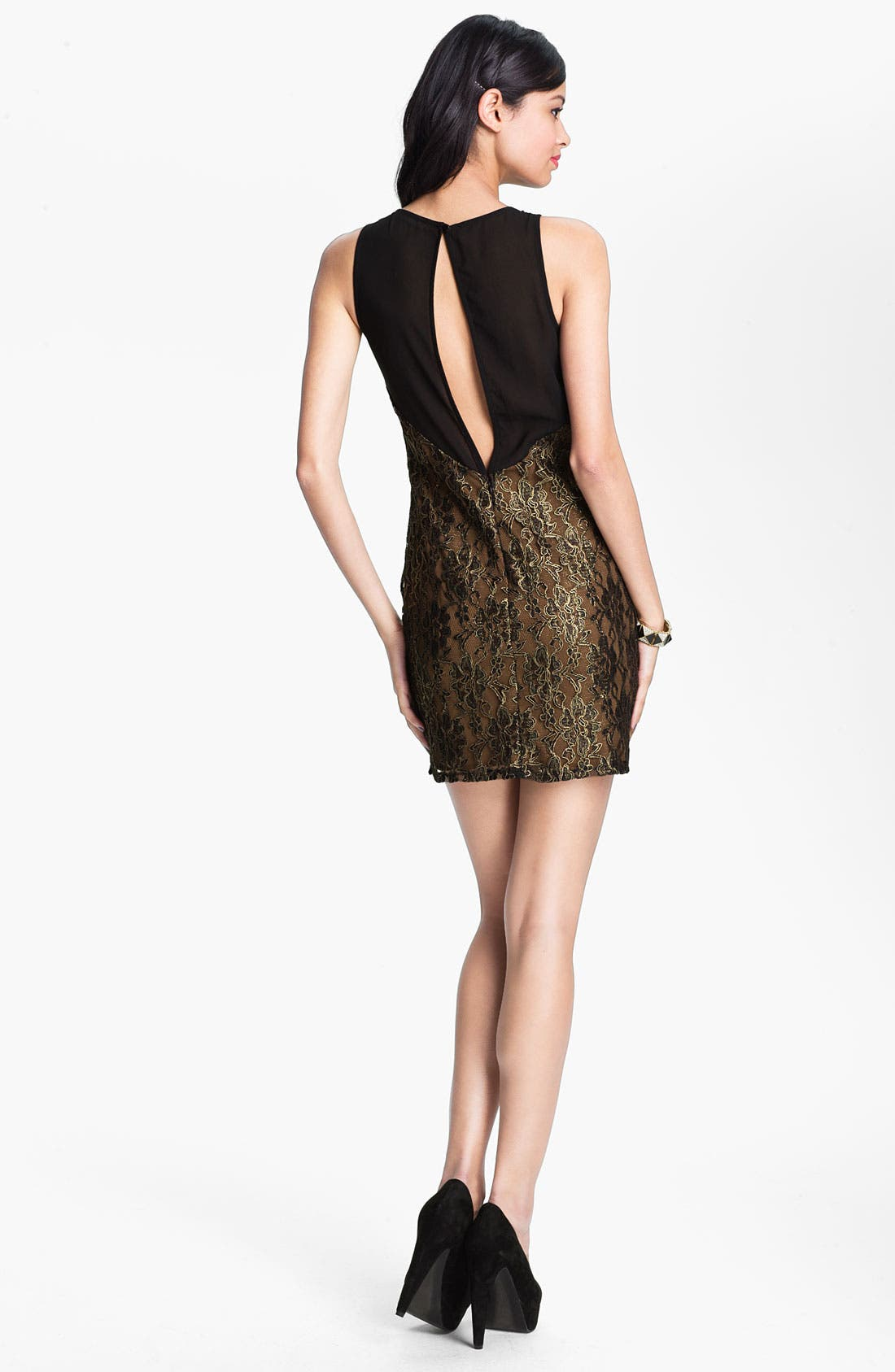 Alternate Image 2  - Lush Lace Shift Dress (Juniors)