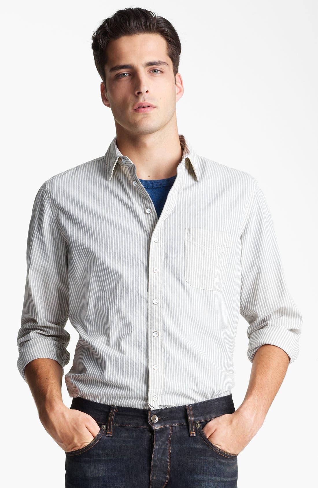 Alternate Image 1 Selected - rag & bone Stripe Woven Shirt