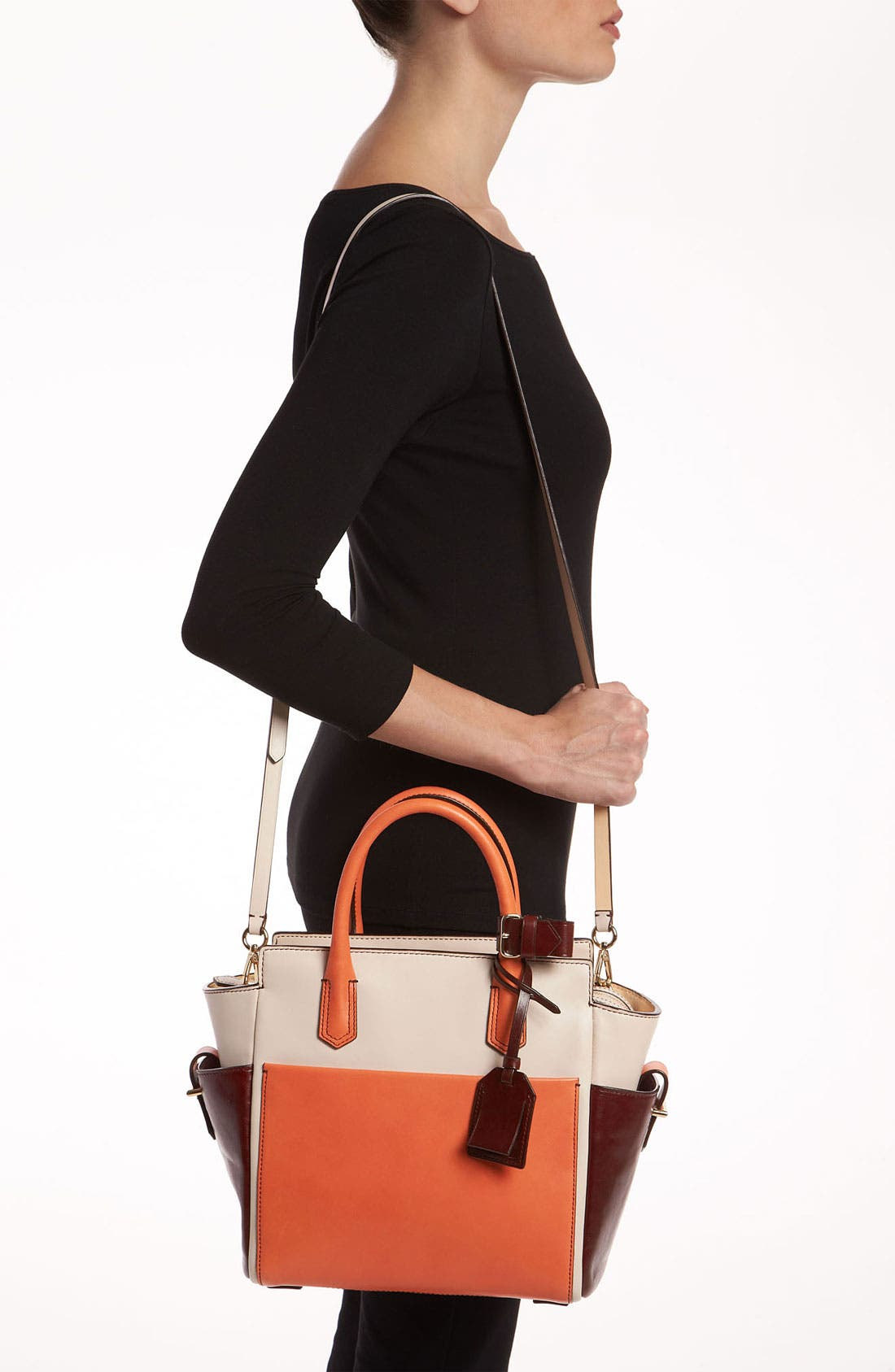 Alternate Image 2  - Reed Krakoff 'Atlantique - Mini' Colorblock Leather Satchel