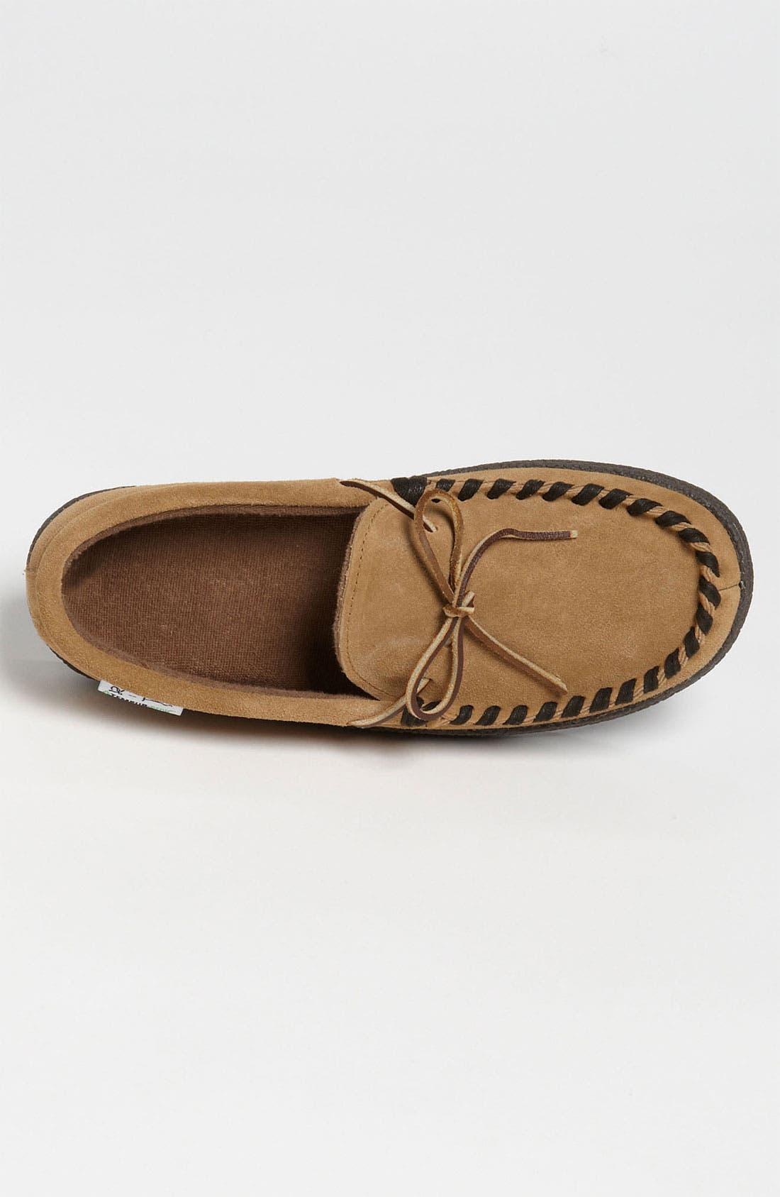 Alternate Image 3  - Tempur-Pedic® Suede Moccasin Slipper