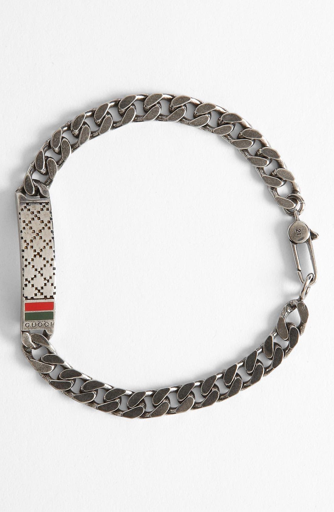 Alternate Image 1 Selected - Gucci Diamante Pattern Sterling Silver Bracelet