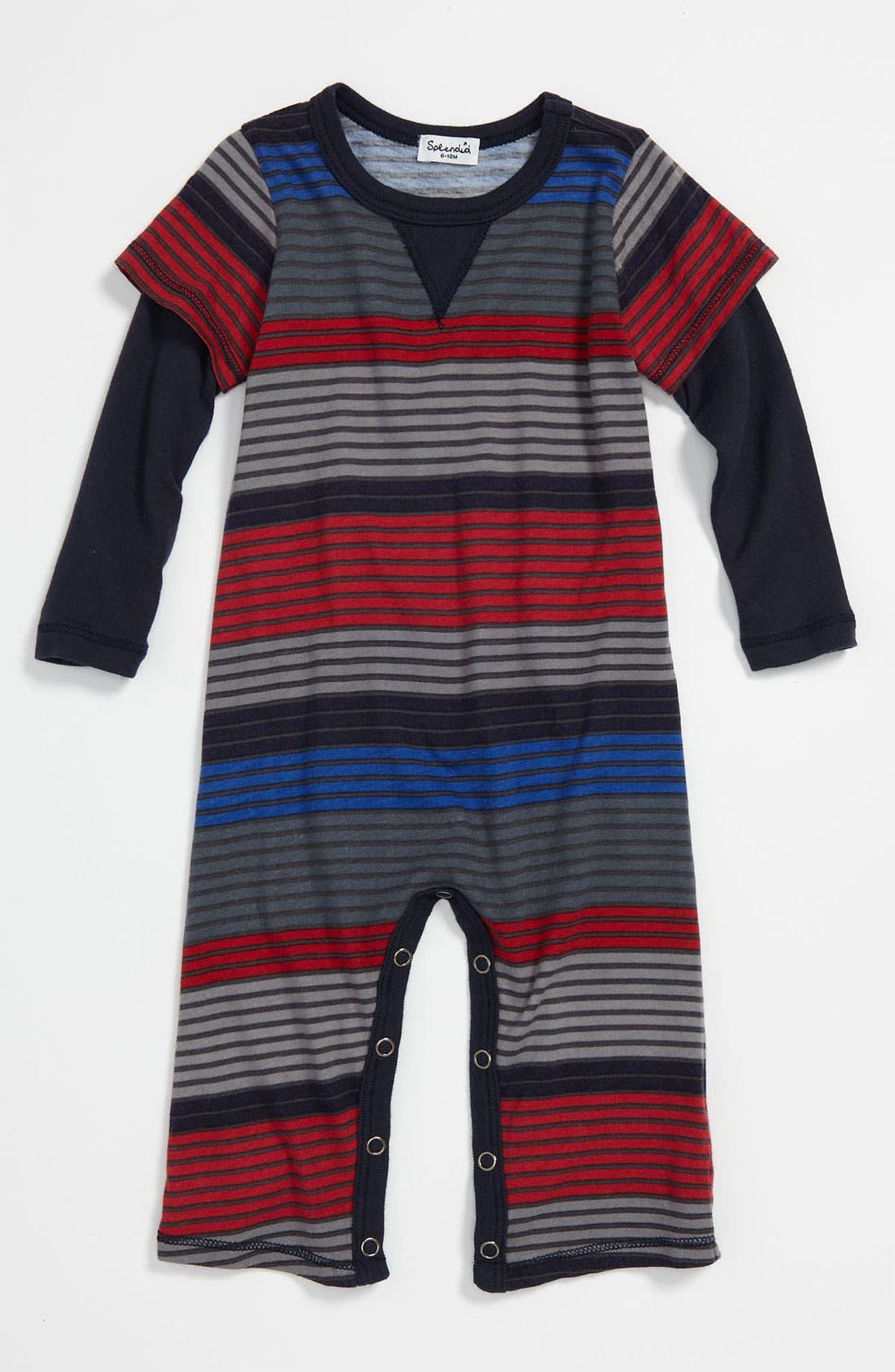 Alternate Image 1 Selected - Splendid 'Camden' Stripe Romper (Infant)