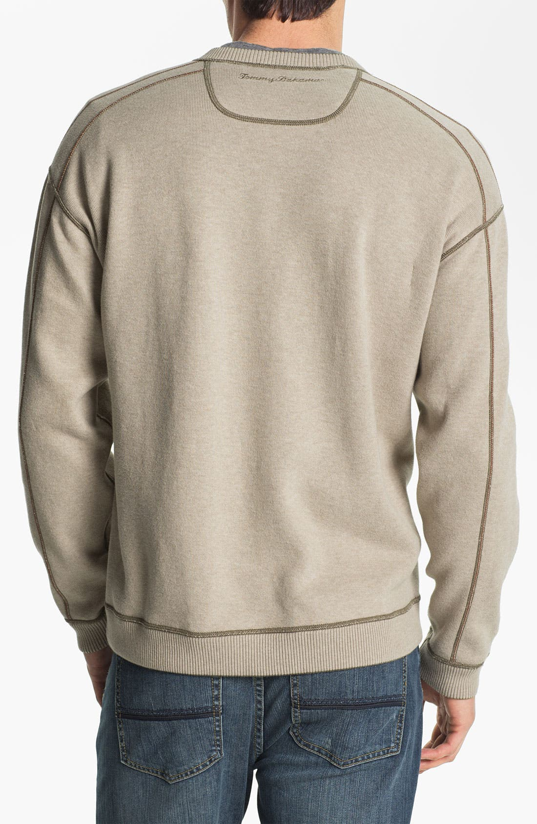 Alternate Image 3  - Tommy Bahama 'Flip Side Pro' Fleece V-Neck Sweatshirt (Big & Tall)
