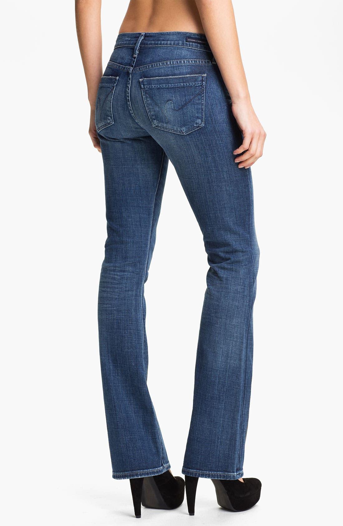 Alternate Image 2  - Citizens of Humanity 'Dita' Slim Bootcut Jeans (Wedgewood) (Petite)