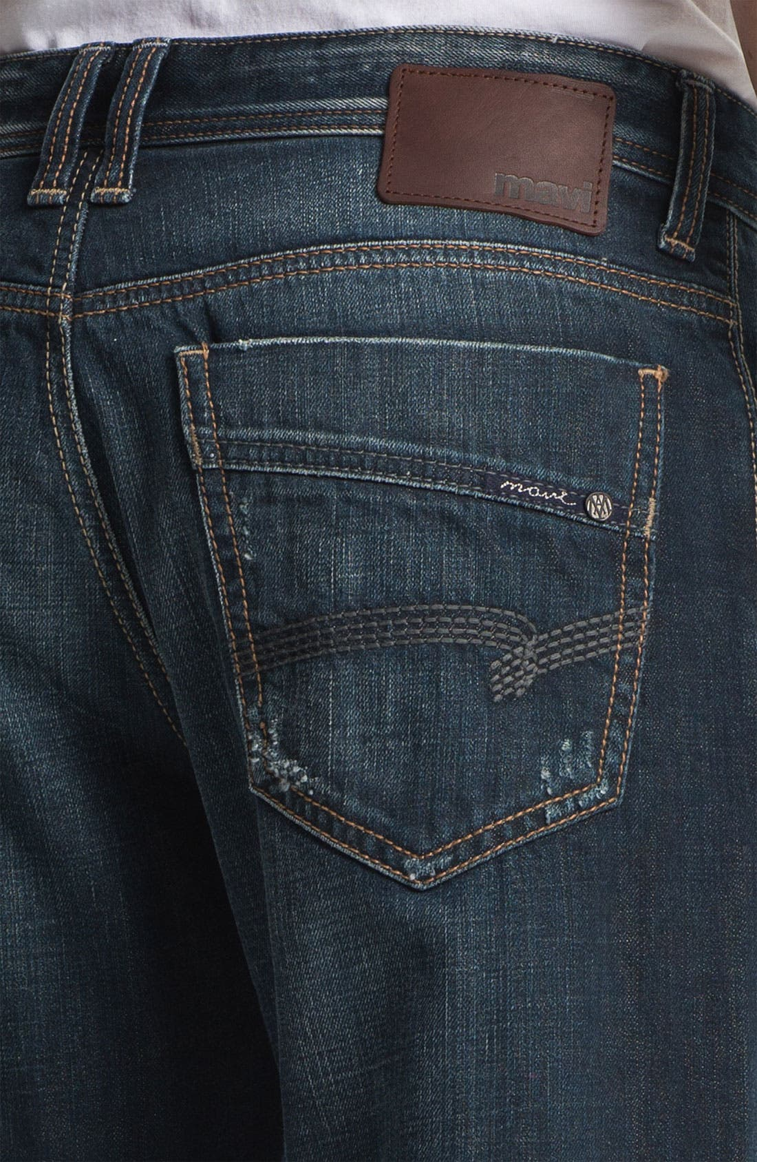 Alternate Image 4  - Mavi Jeans 'Matt' Relaxed Straight Leg Jeans (Used American Vintage)