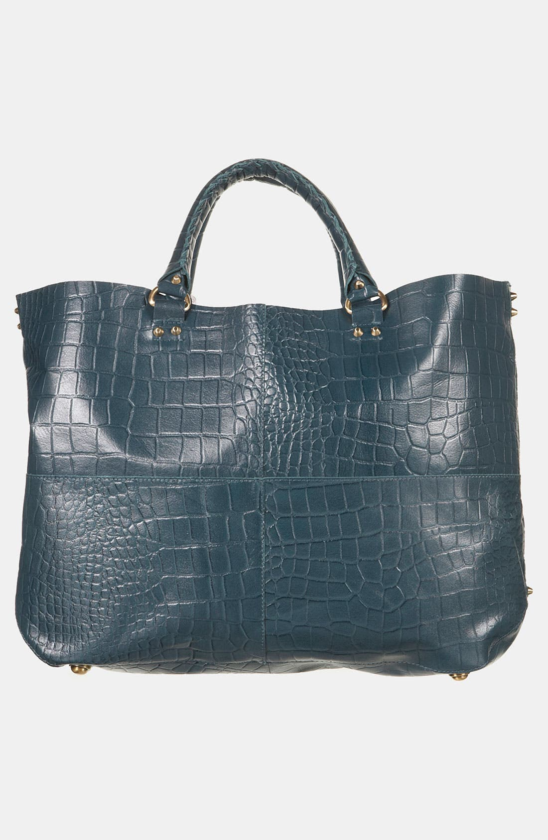 Alternate Image 3  - Topshop 'Lady' Croc Embossed Tote
