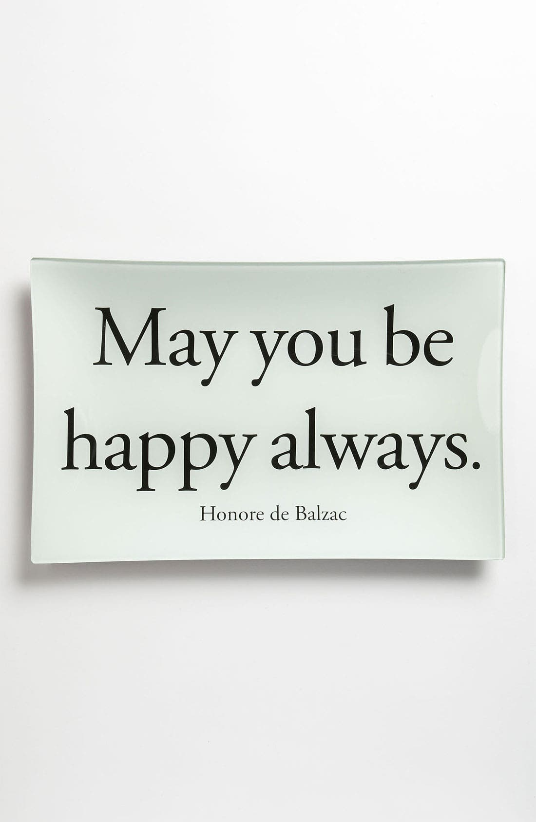 Alternate Image 1 Selected - Ben's Garden 'May You Be Happy Always' Decorative Glass Tray