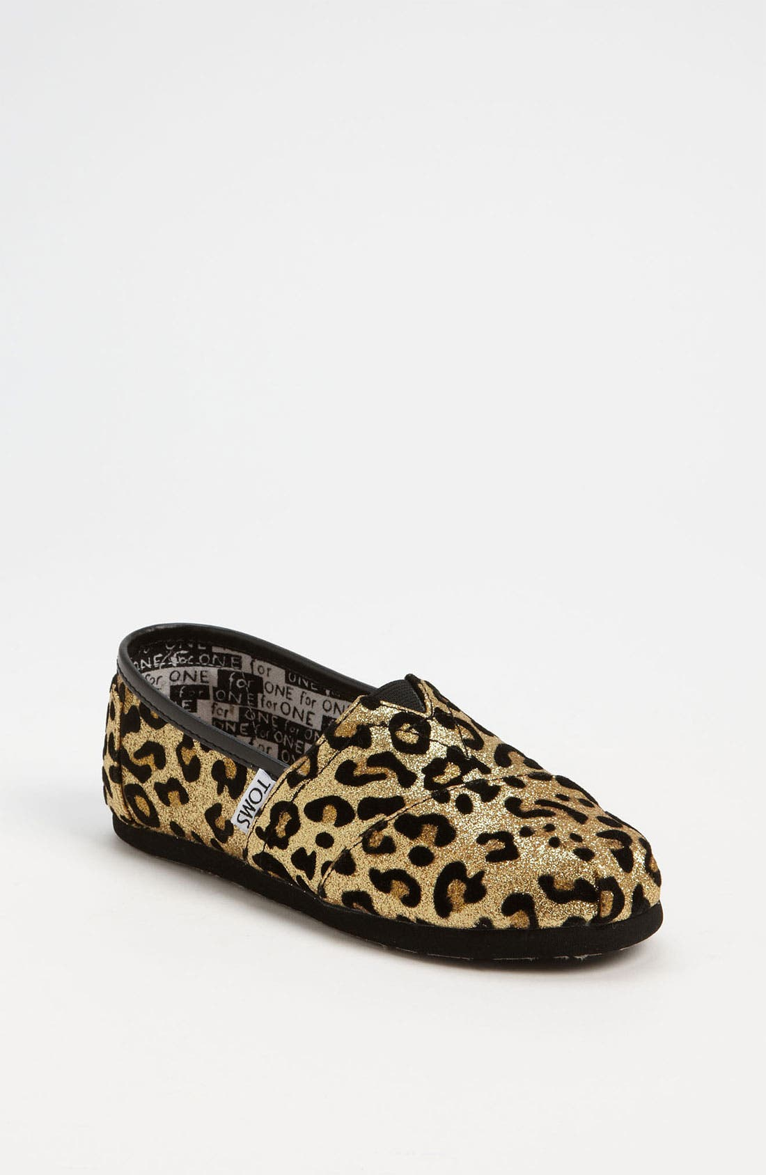 Main Image - TOMS 'Classic Youth - Glitter' Print Slip-On (Toddler, Little Kid & Big Kid)(Nordstrom Exclusive)
