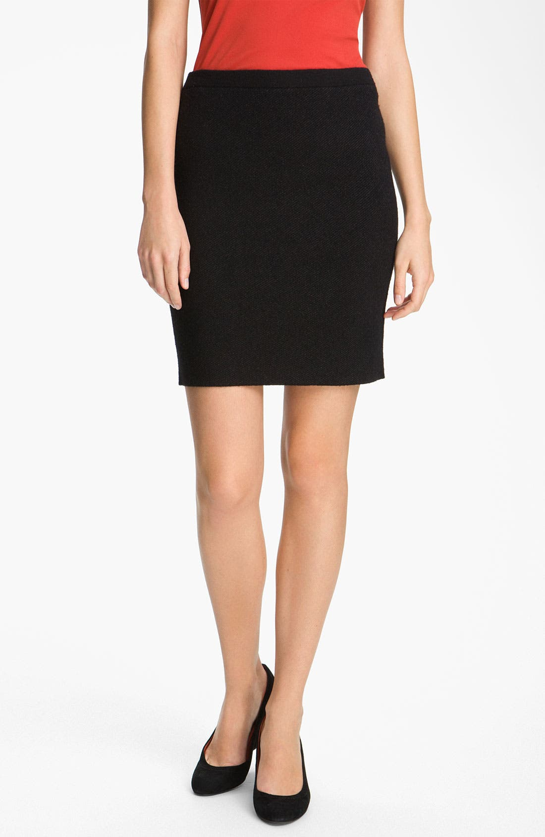 Alternate Image 1 Selected - Eileen Fisher Pull-On Wool Blend Skirt (Petite)