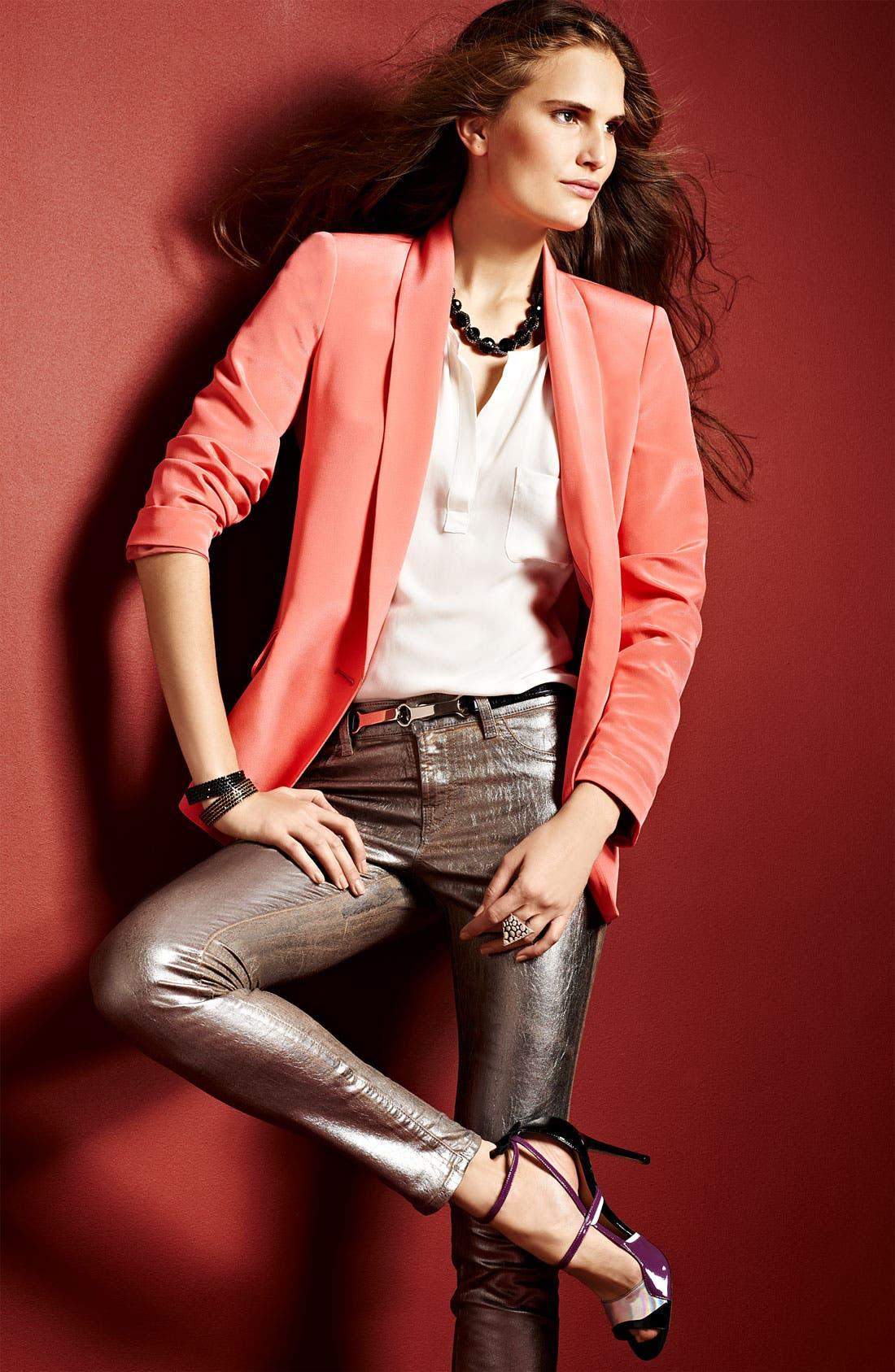 Alternate Image 7  - Truth and Pride Shawl Collar Silk Blazer