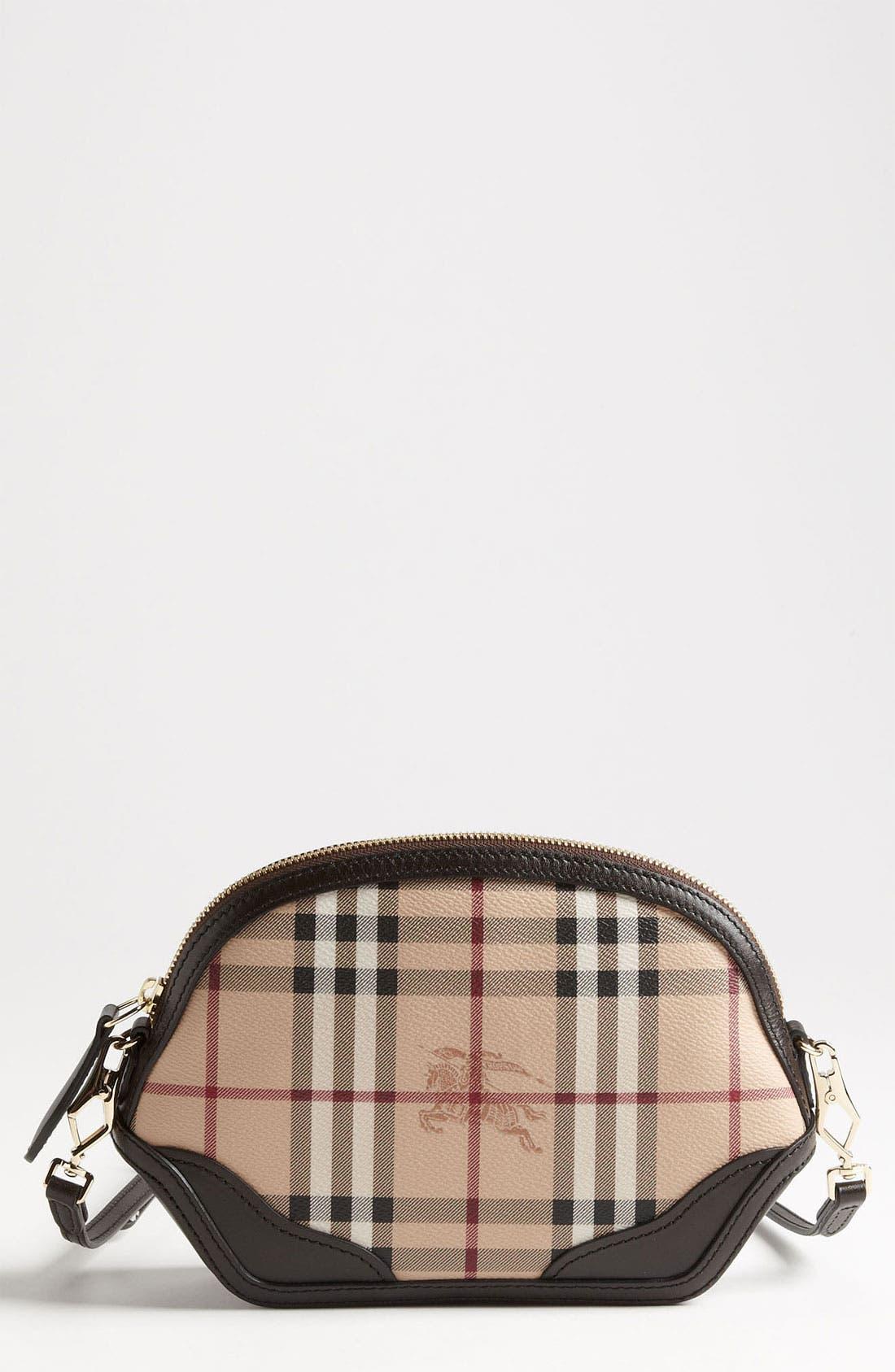 Alternate Image 1 Selected - Burberry 'Haymarket Check - Mini' Crossbody Bag