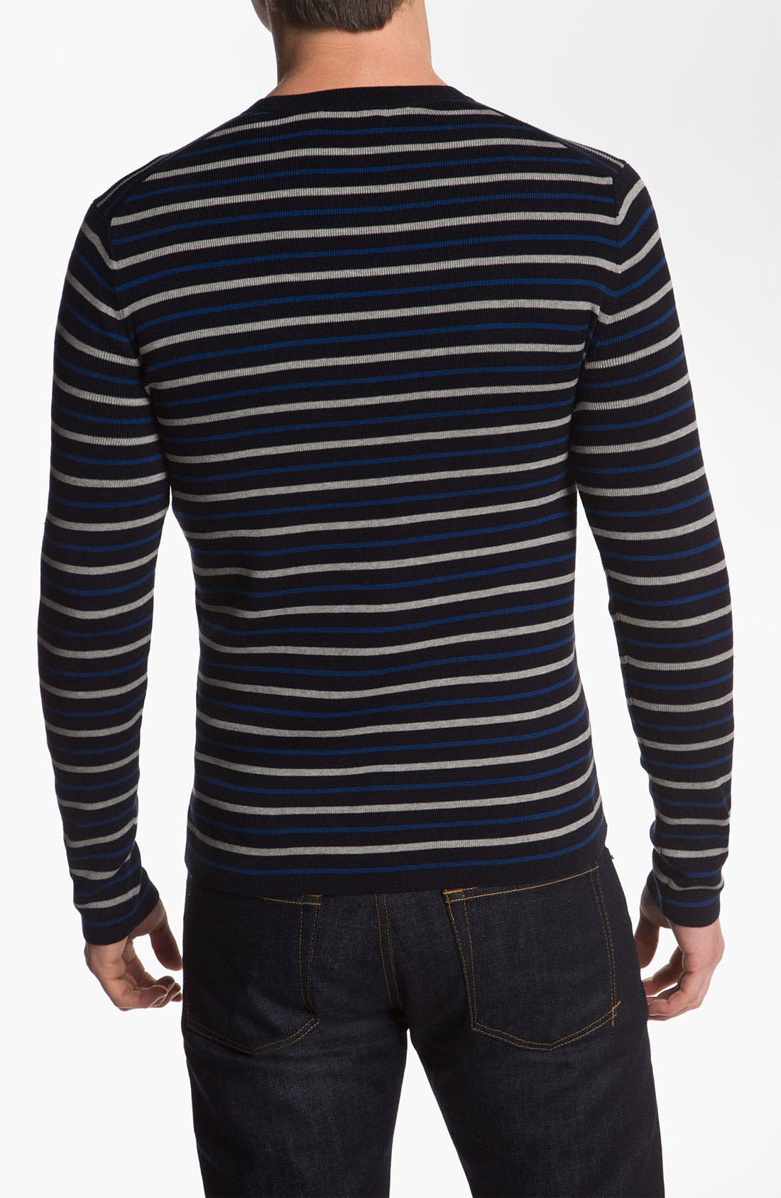 Alternate Image 2  - Vince Stripe Crewneck Sweater