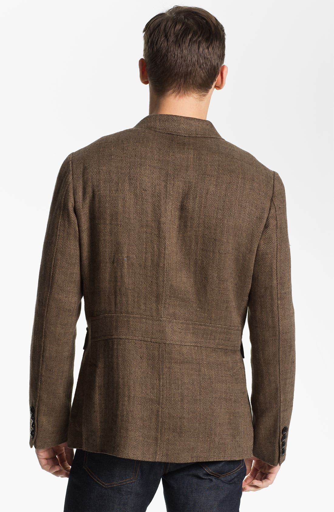 Alternate Image 2  - Todd Snyder Three Button Linen Herringbone Sportcoat