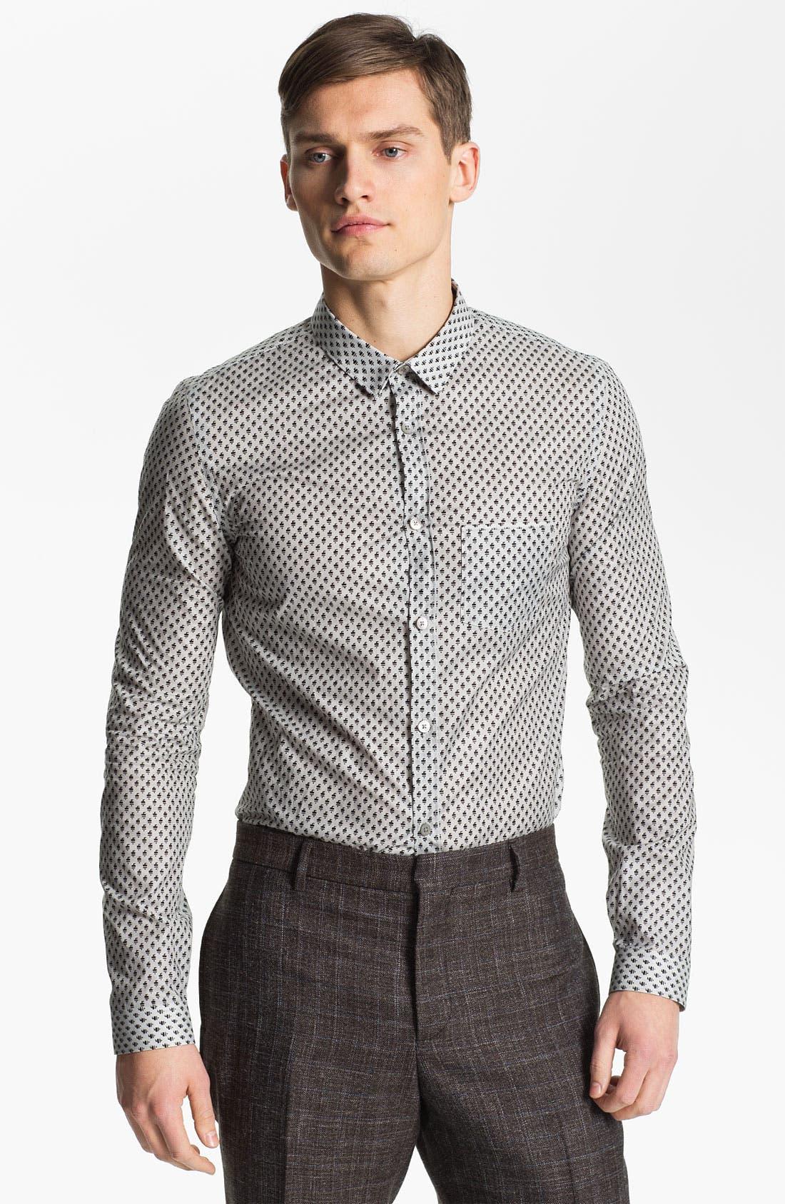 Alternate Image 1 Selected - Burberry Prorsum Geometric Fawn Print Shirt