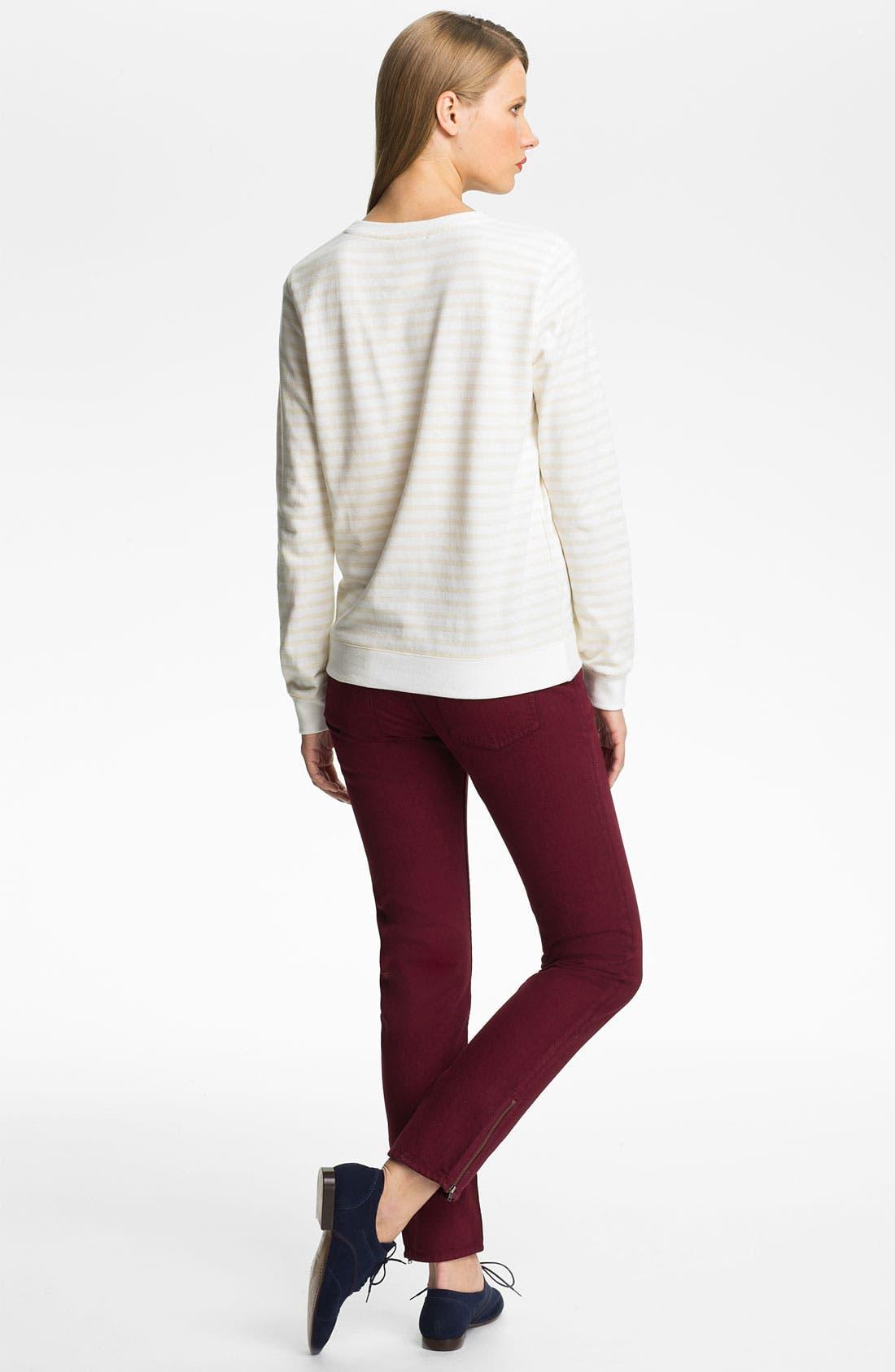 Alternate Image 2  - A.P.C. Stripe Sweatshirt