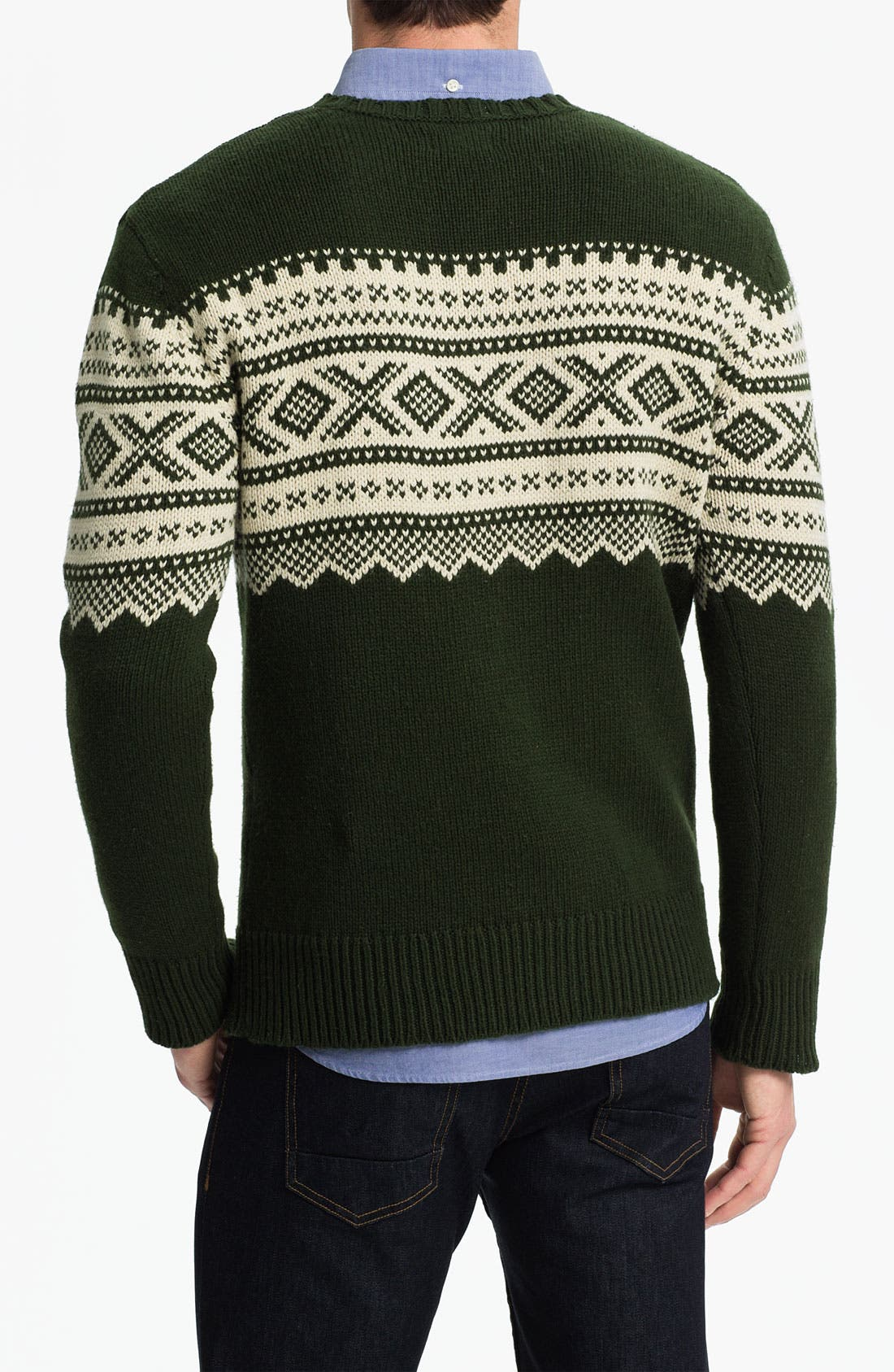 Alternate Image 2  - Gant Rugger Jacquard Crewneck Sweater
