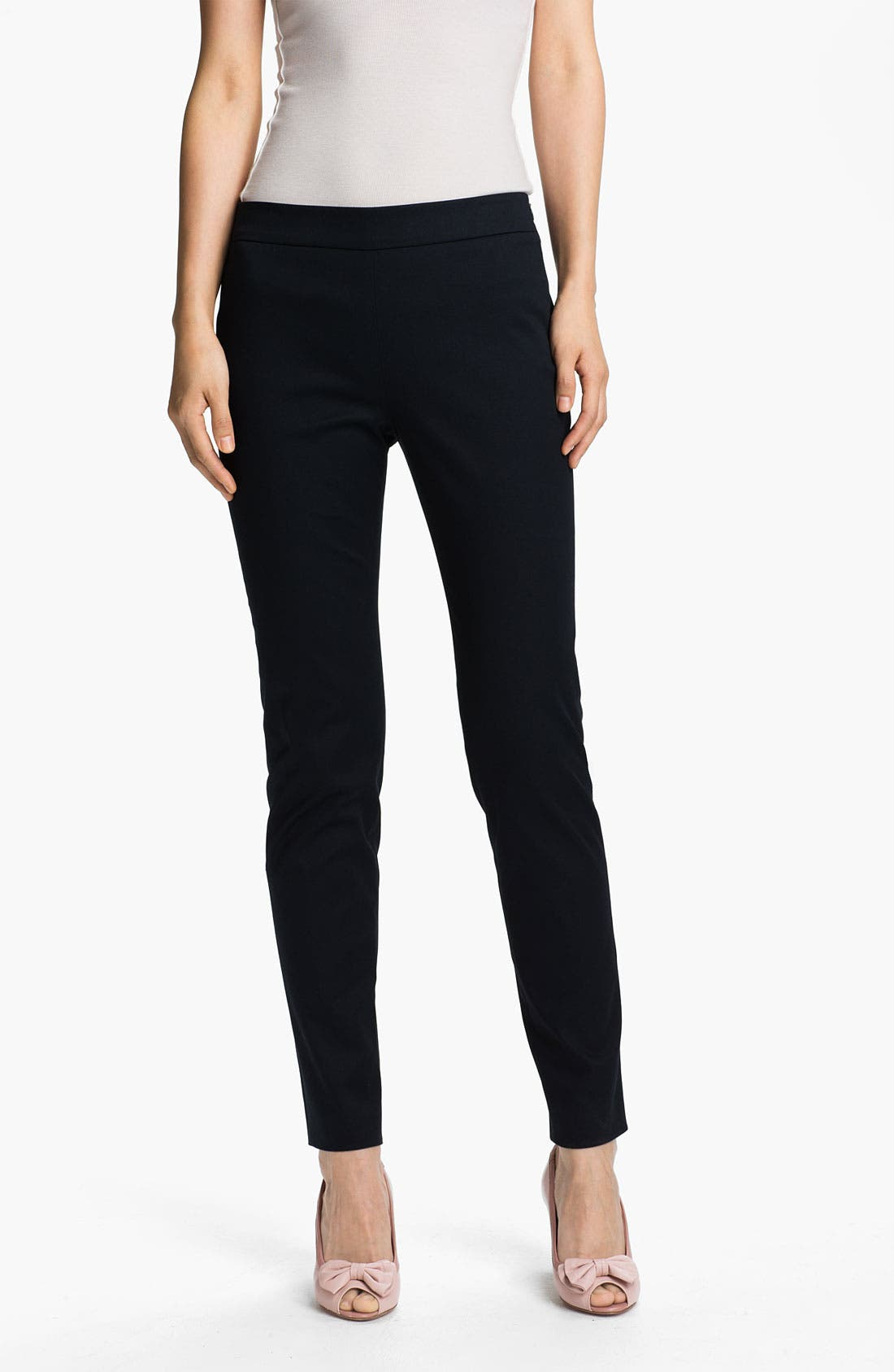 Alternate Image 1 Selected - RED Valentino Skinny Stretch Gabardine Pants