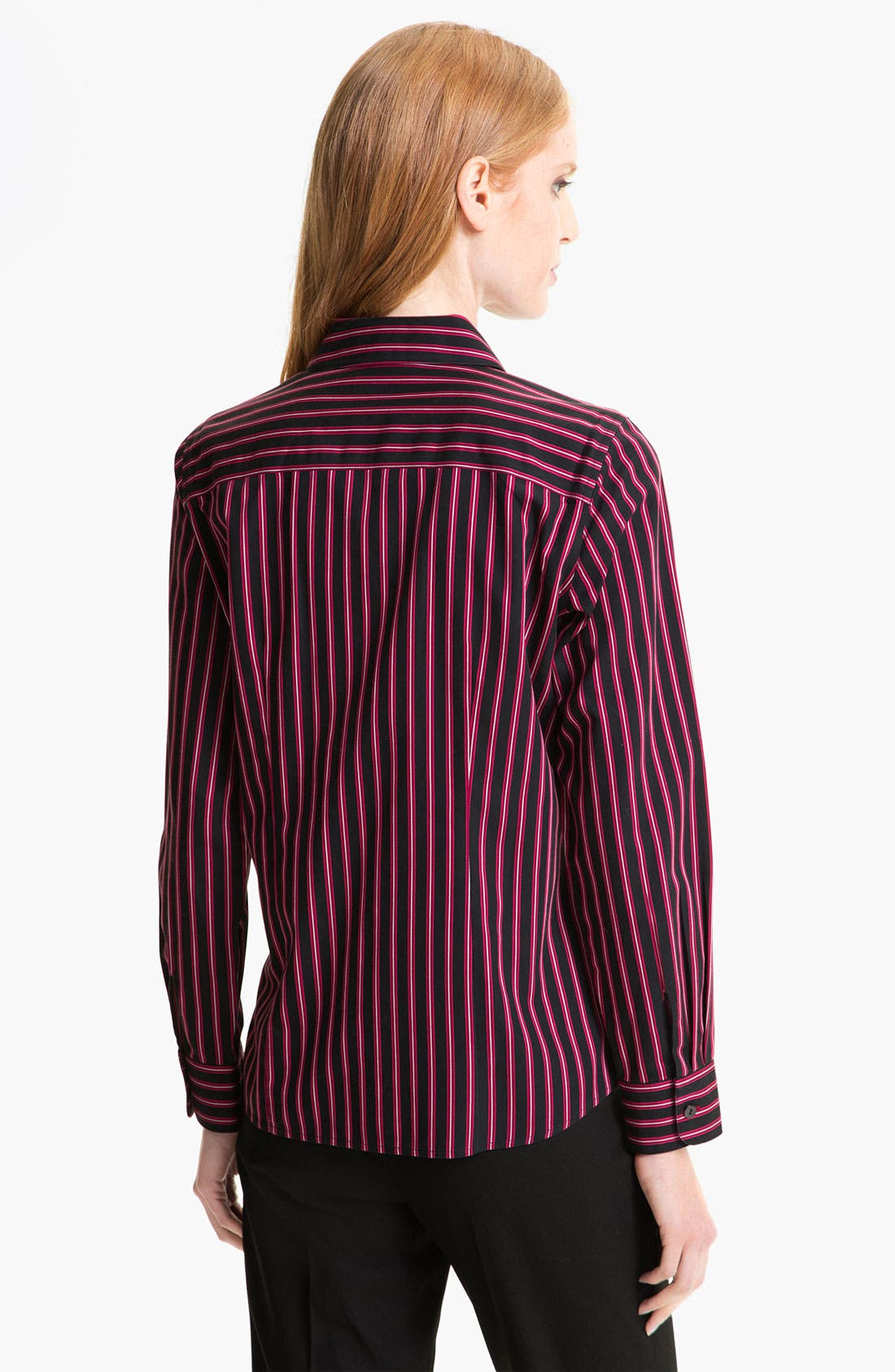 Alternate Image 2  - Foxcroft Satin Stripe Shirt (Petite)