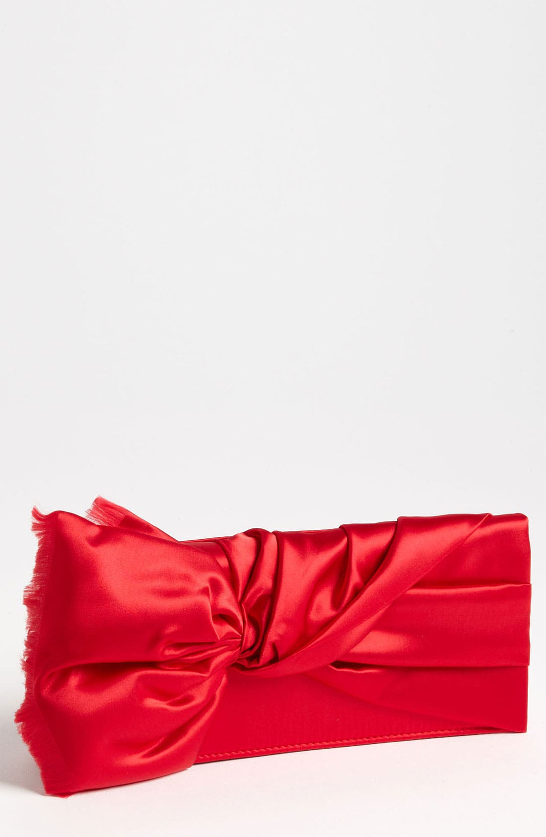 Main Image - Nina Twist Flap Satin Clutch