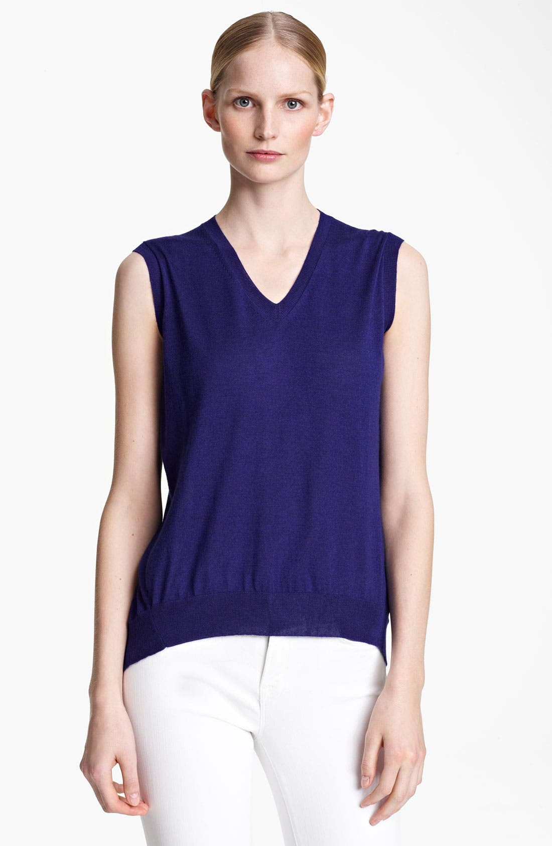 Alternate Image 1 Selected - Jil Sander Sleeveless Cashmere & Silk Sweater