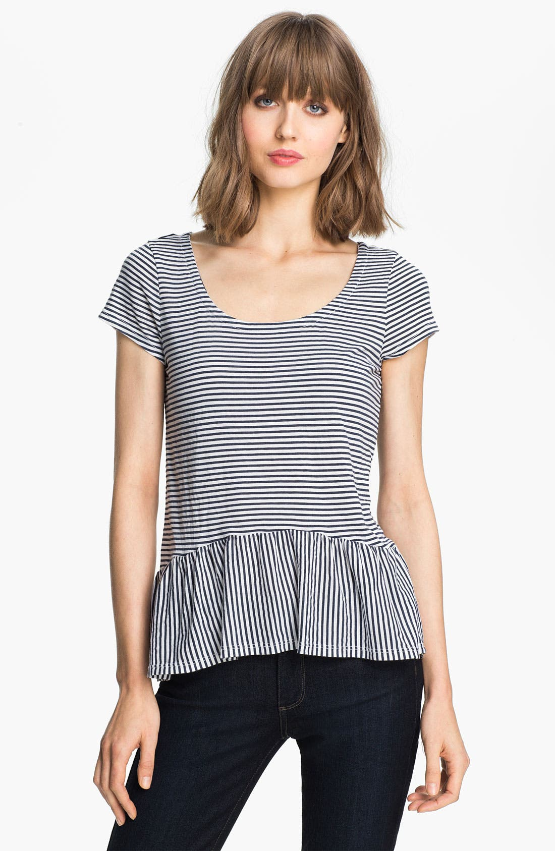 Alternate Image 1 Selected - Splendid 'Naples' Stripe Peplum Tee