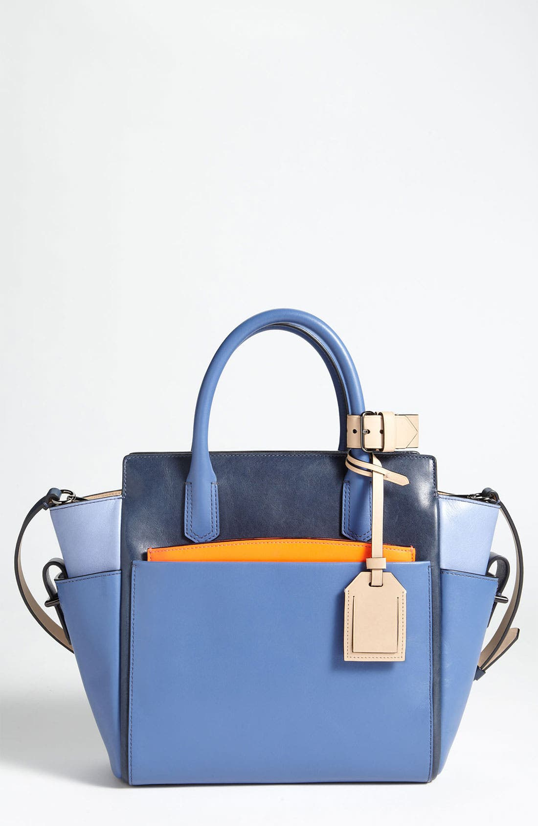 Alternate Image 1 Selected - Reed Krakoff 'Atlantique - Mini' Colorblock Leather Satchel