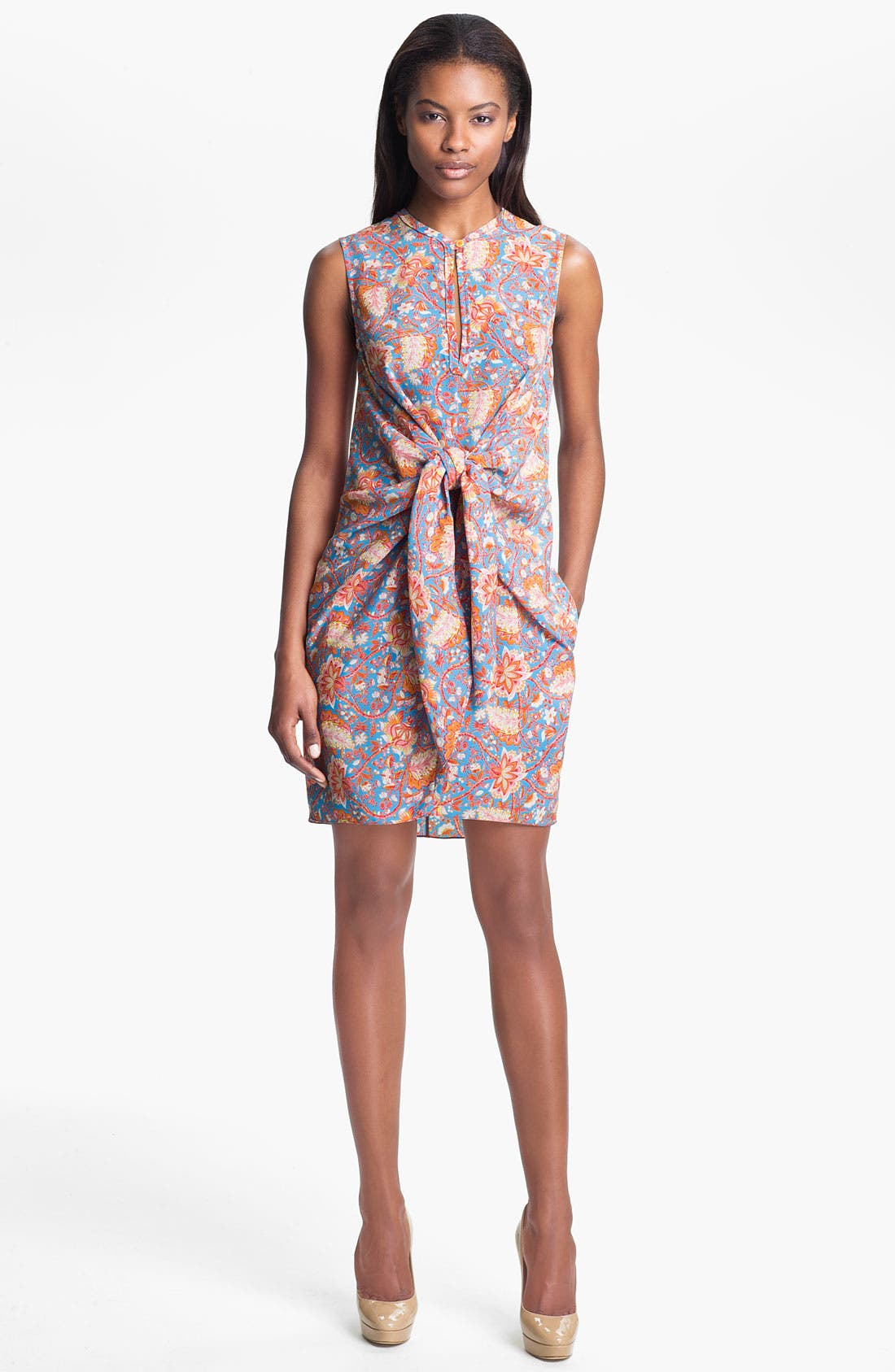 Main Image - Carven Print Tie Front Dress