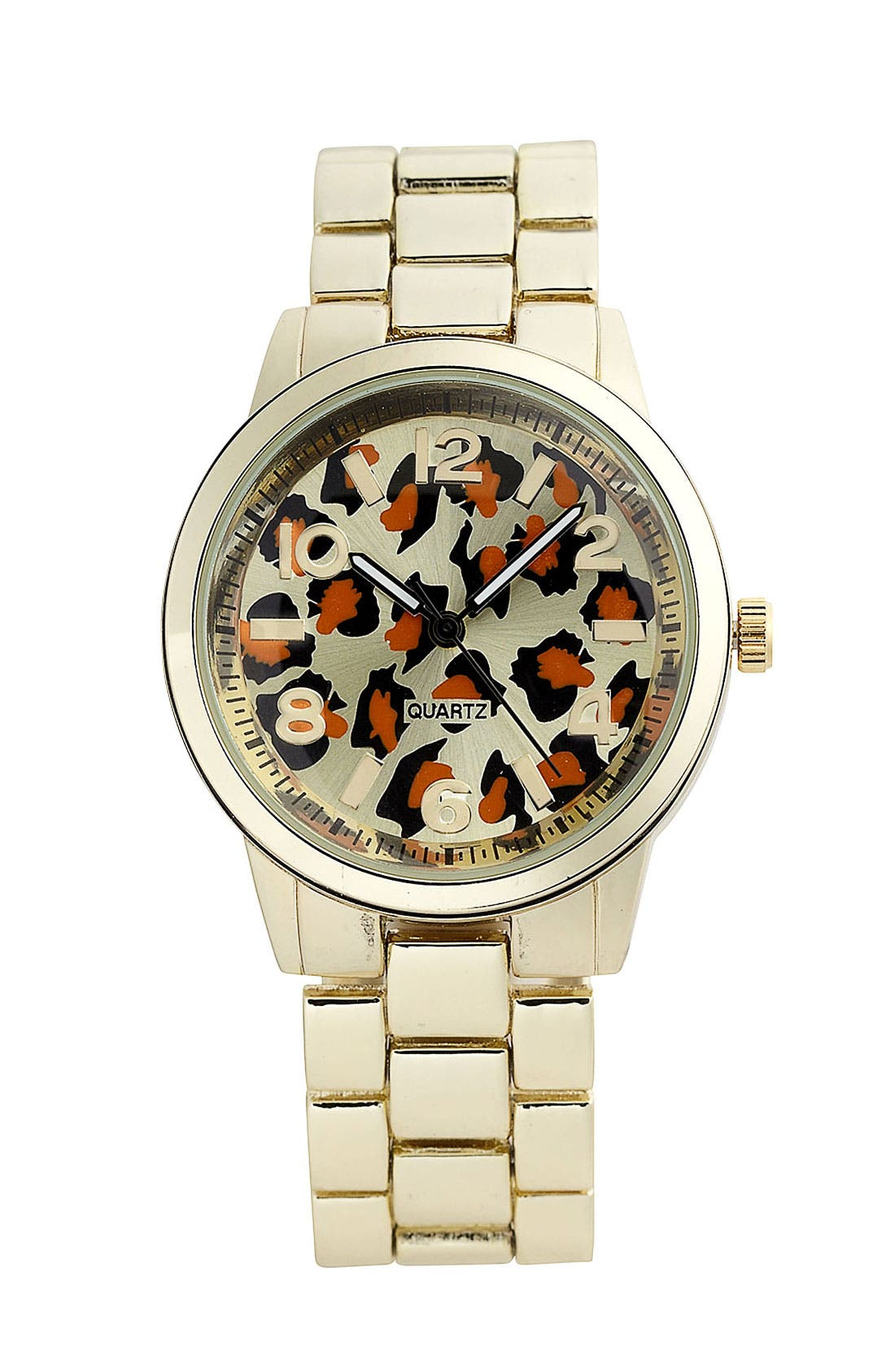 Alternate Image 1 Selected - Titanium 'Leopard Face' Watch