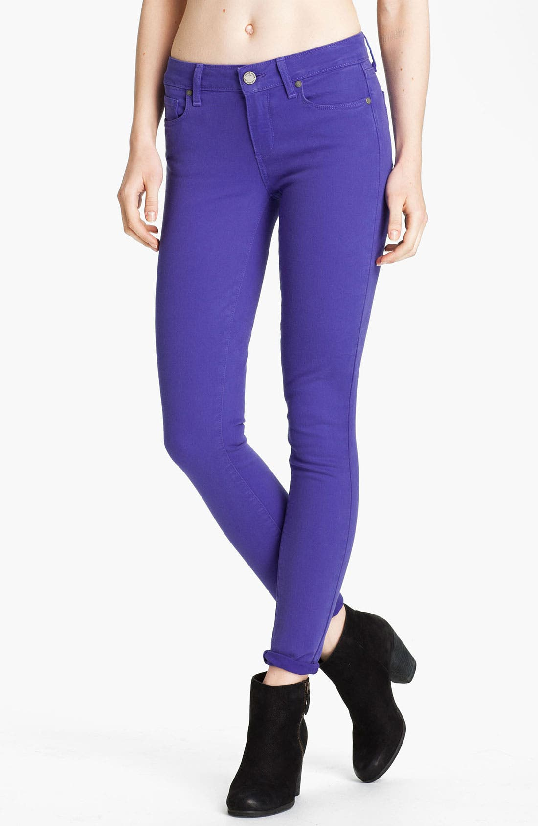 Main Image - Paige Denim 'Verdugo' Skinny Stretch Denim Jeans (Violet Blue)