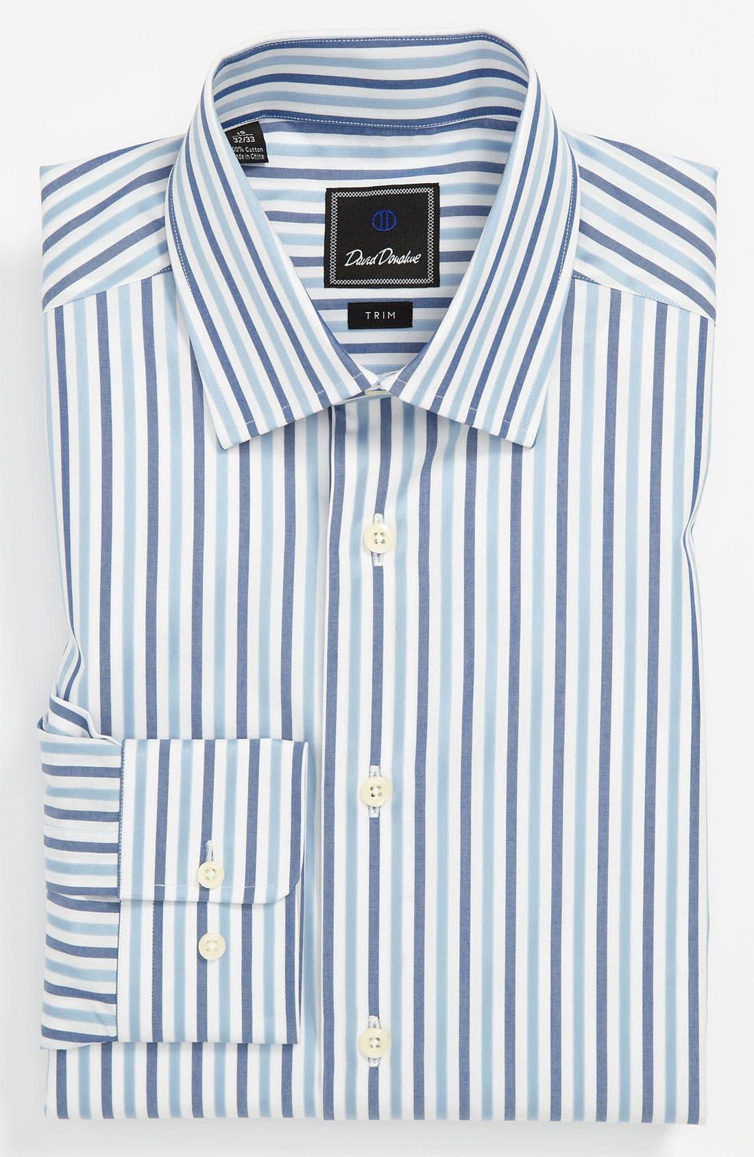 Alternate Image 1 Selected - David Donahue Trim Fit Dress Shirt (Online Exclusive)