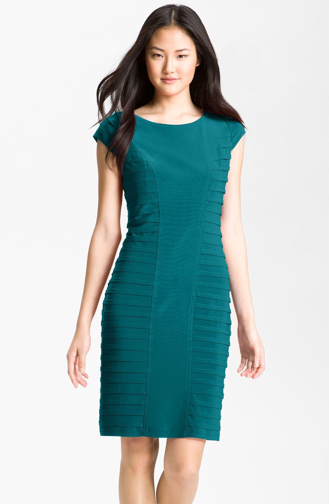 Main Image - Adrianna Papell Pleat Panel Jersey Sheath Dress