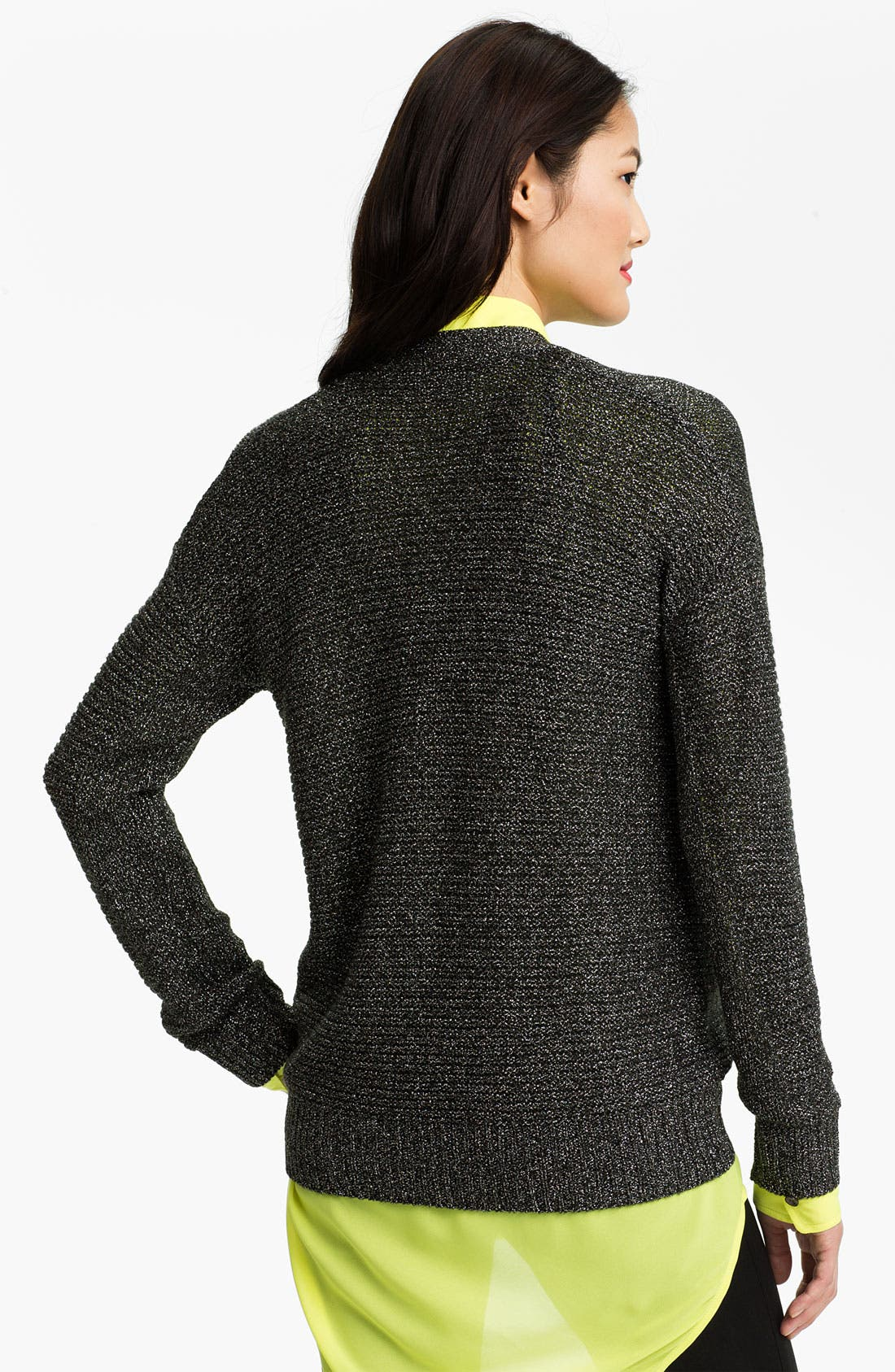 Alternate Image 2  - Two by Vince Camuto Drop Stitch V-Neck Cardigan