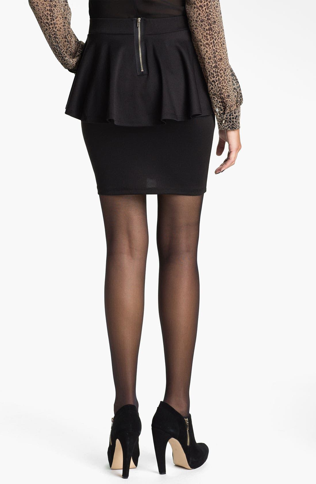 Alternate Image 2  - h.i.p. Peplum Skirt (Juniors)