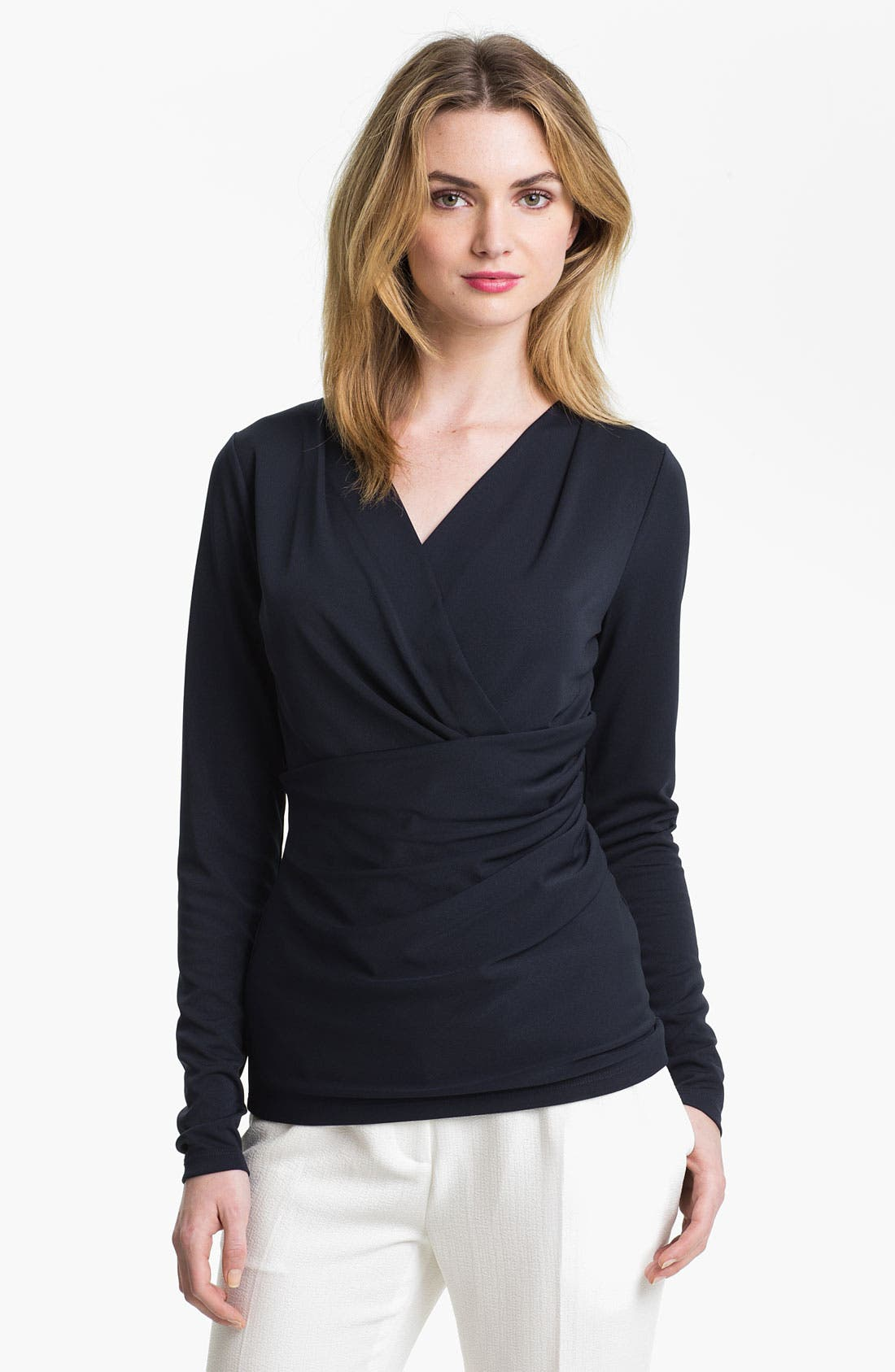Alternate Image 1 Selected - Anne Klein Faux Wrap Top
