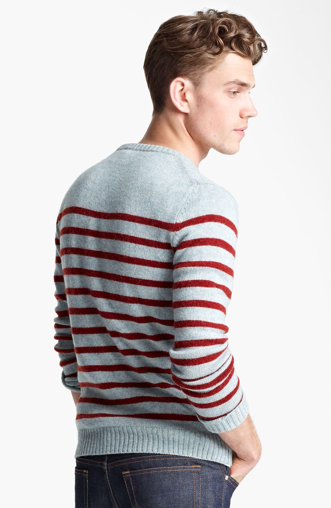 Alternate Image 2  - A.P.C. Stripe Crewneck Sweater