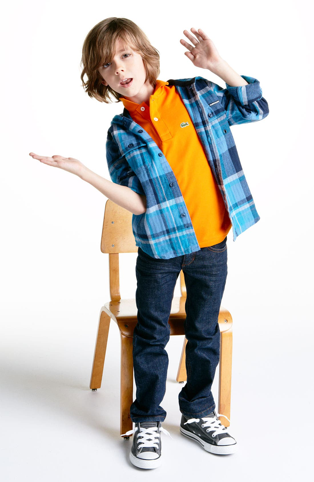 Alternate Image 2  - Quiksilver 'Four Shore' Hooded Flannel Shirt (Little Boys)