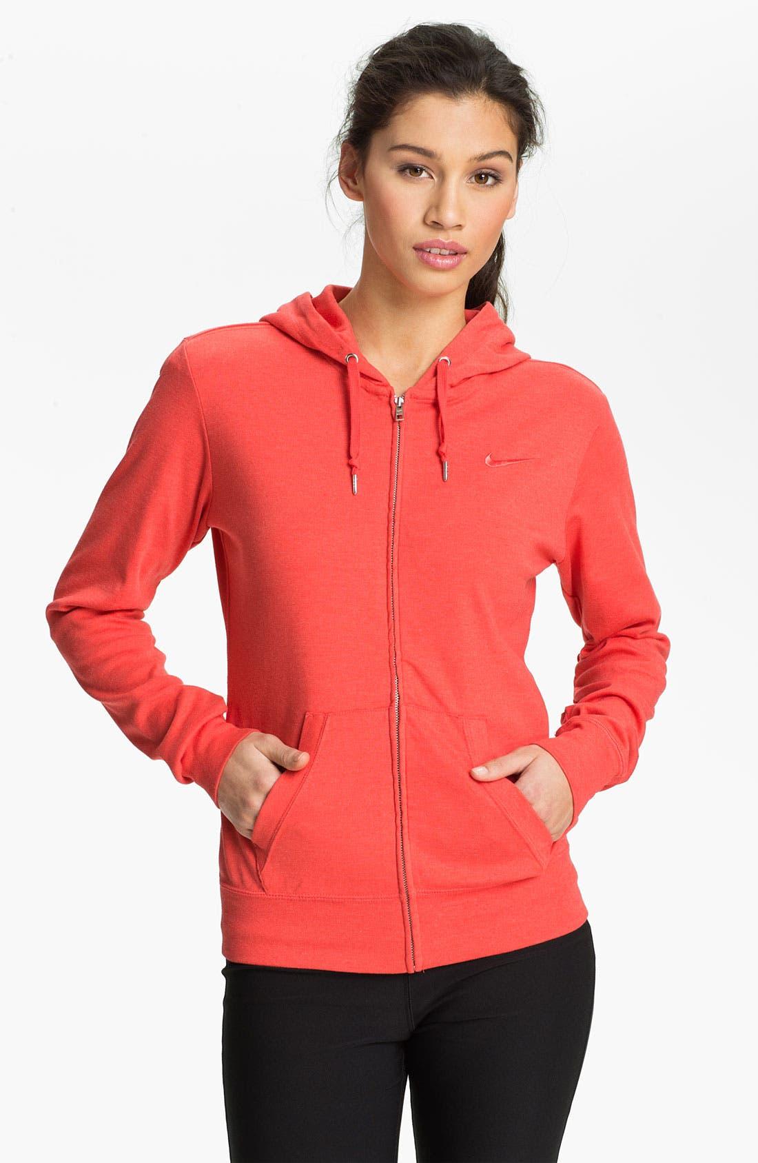 Alternate Image 1 Selected - Nike Full Zip Jersey Hoodie