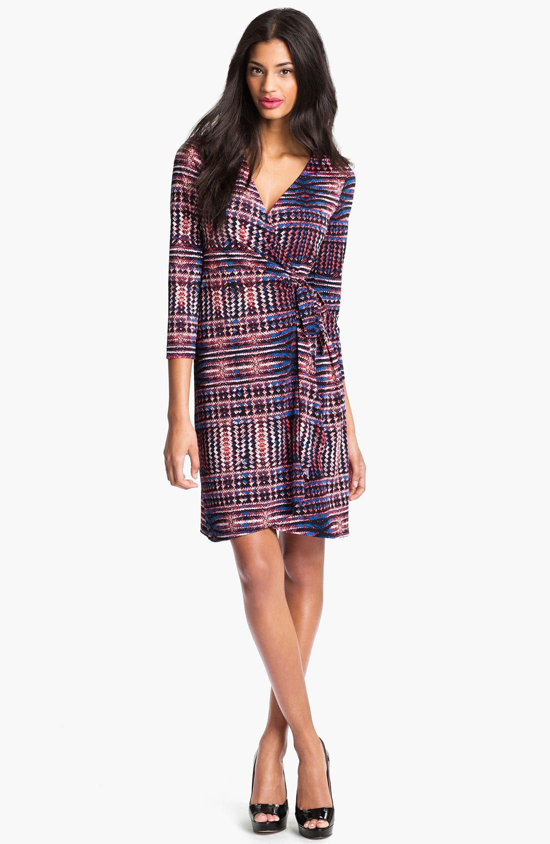 Main Image - BCBGMAXAZRIA Print Wrap Dress