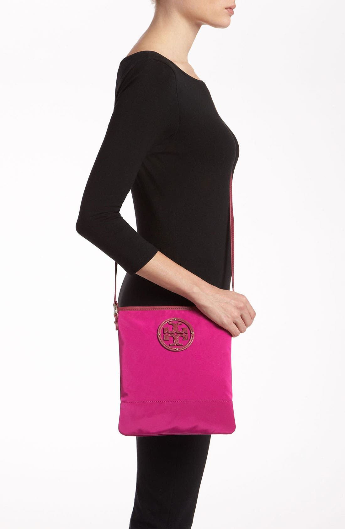 Alternate Image 2  - Tory Burch Stacked Logo Crossbody Bag